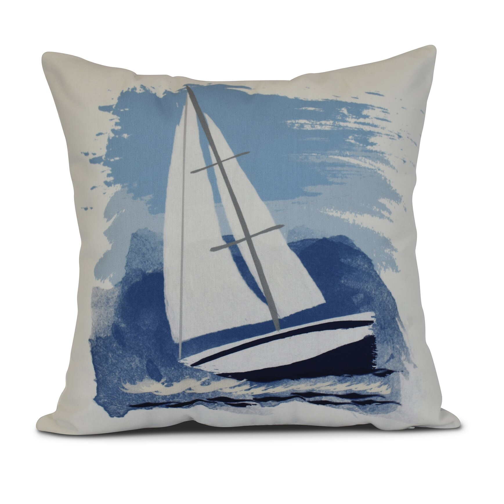 Throw Pillows The Bay : Breakwater Bay Bartow Sailing the Seas Throw Pillow Wayfair