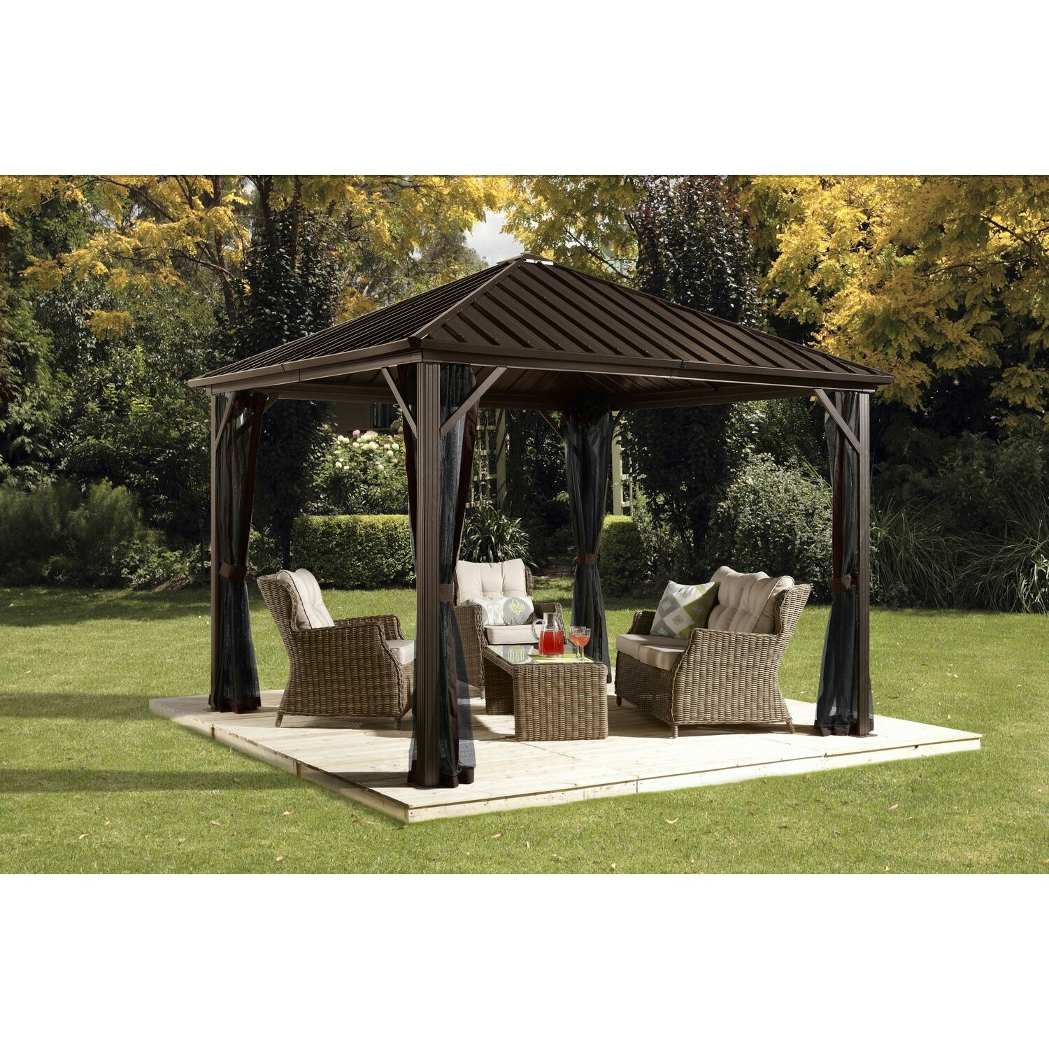 Sojag Dakota 10 Ft W X 10 Ft D Metal Permanent Gazebo