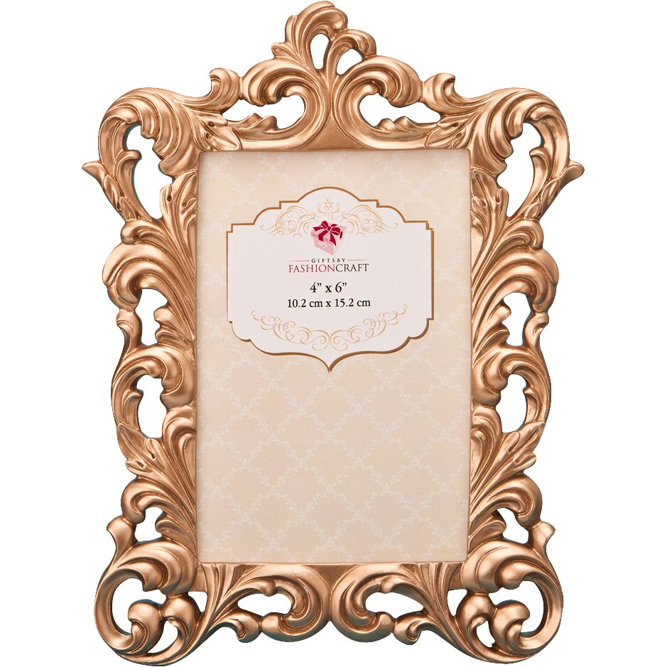Fashioncraft Rose Gold Baroque Picture Frame Amp Reviews