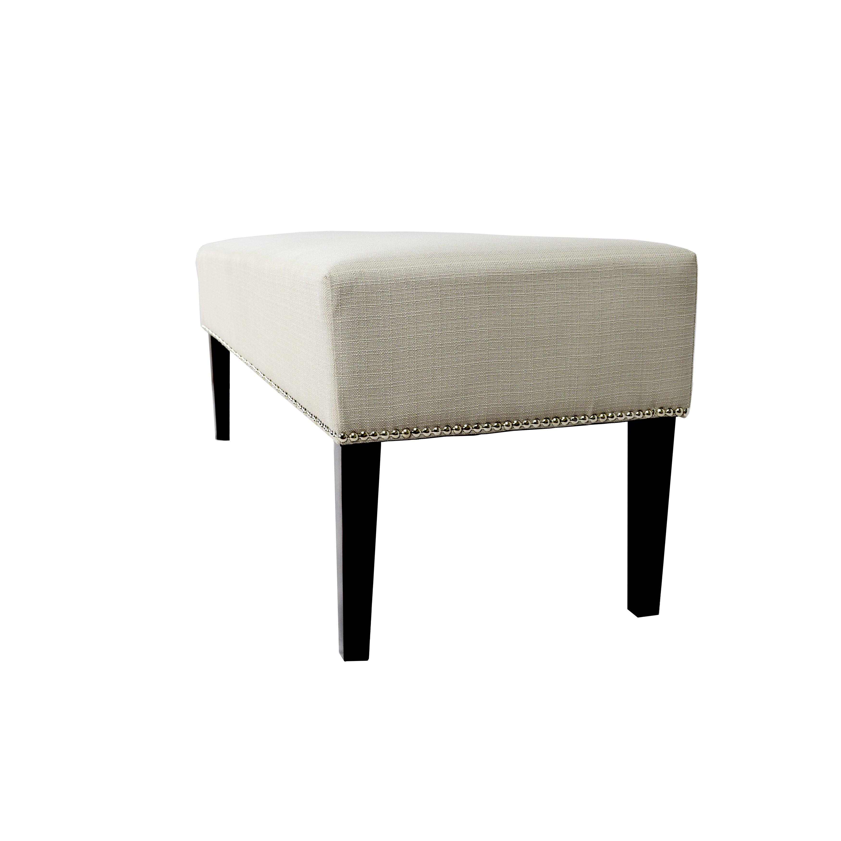 mjlfurniture roxanne upholstered bench reviews wayfair