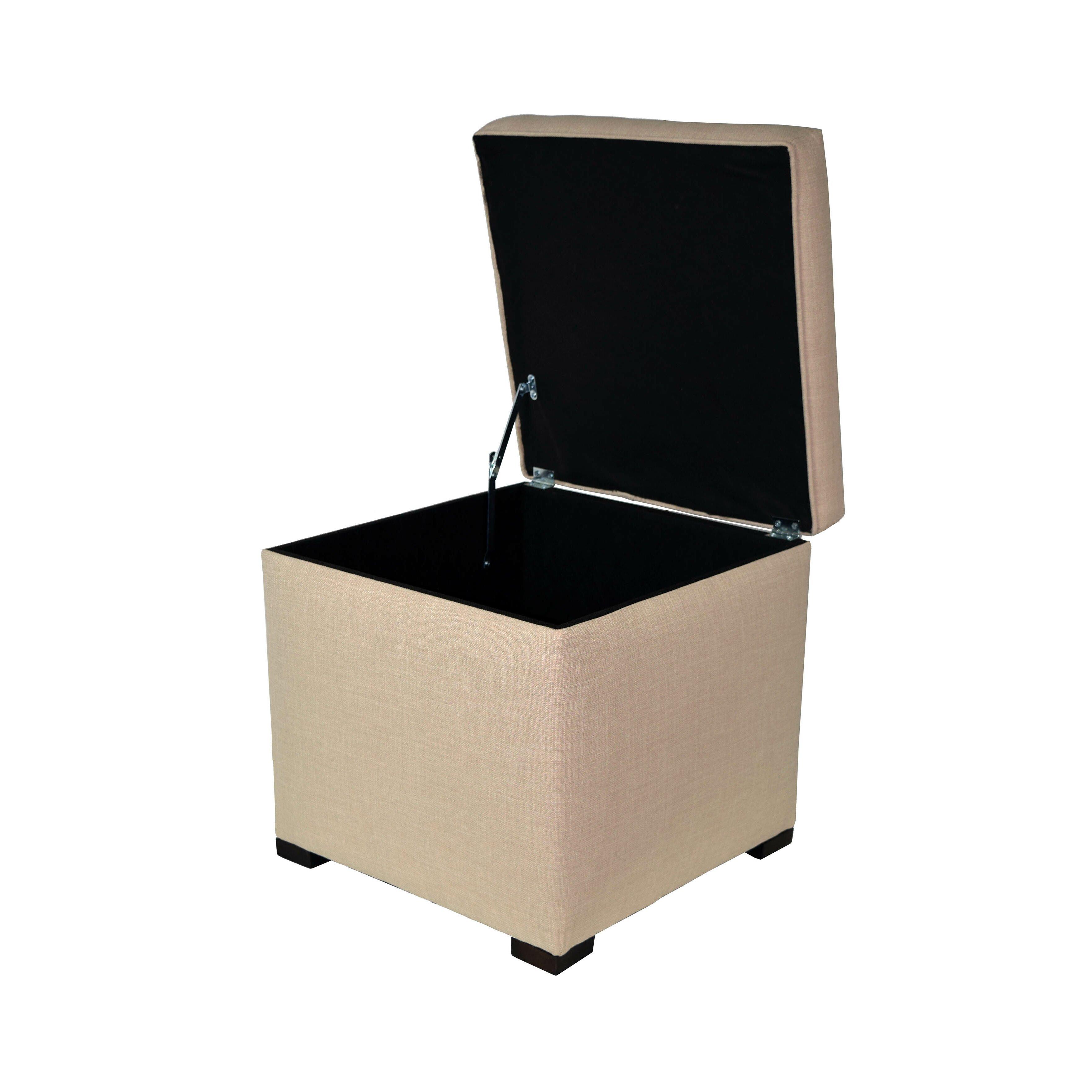 Mjlfurniture tami upholstered storage ottoman reviews for Furniture ottoman storage