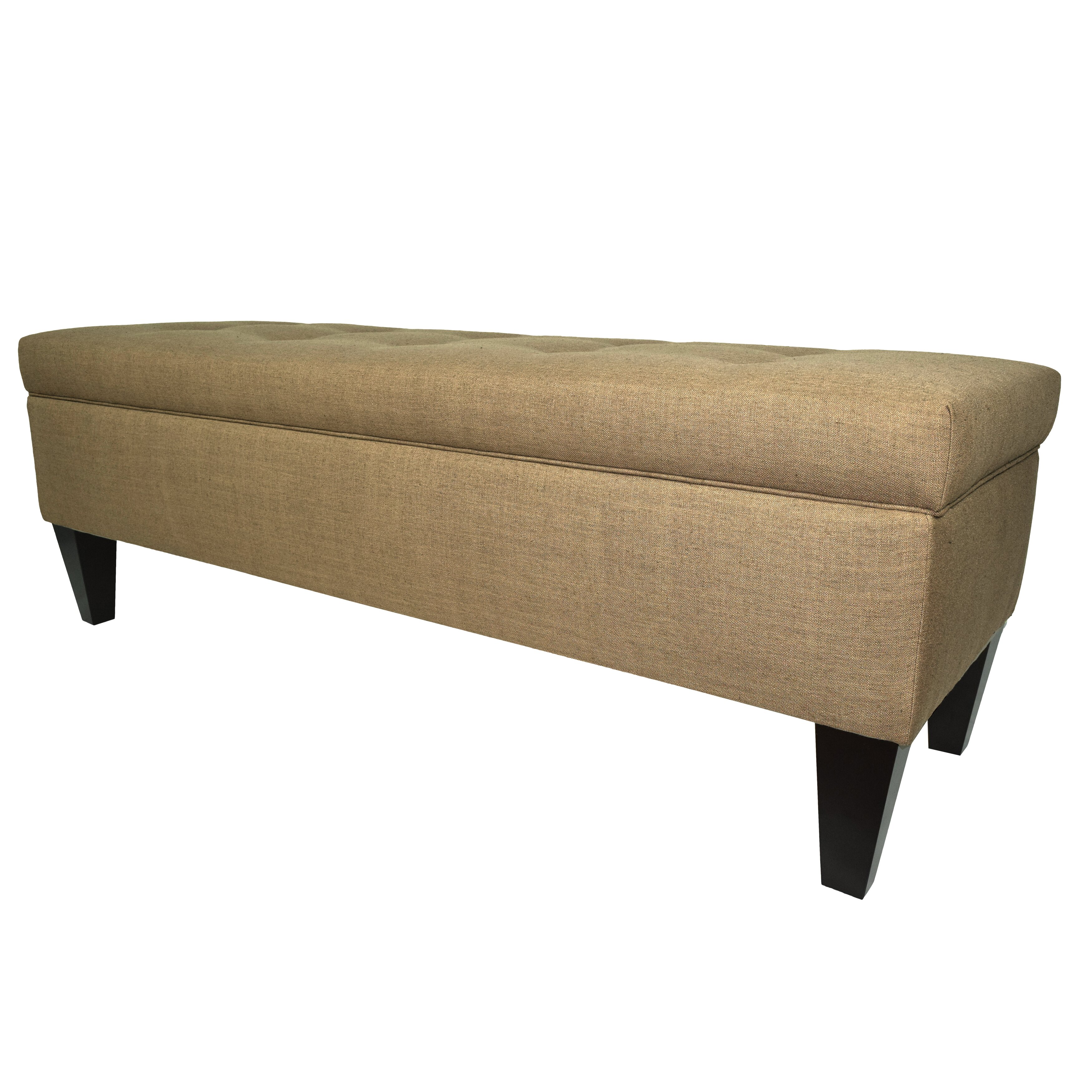 MJLFurniture Allure Wood Storage Bedroom Bench Wayfair. Full resolution  image, nominally Width 3500 Height 3500 pixels, image with #846C47.