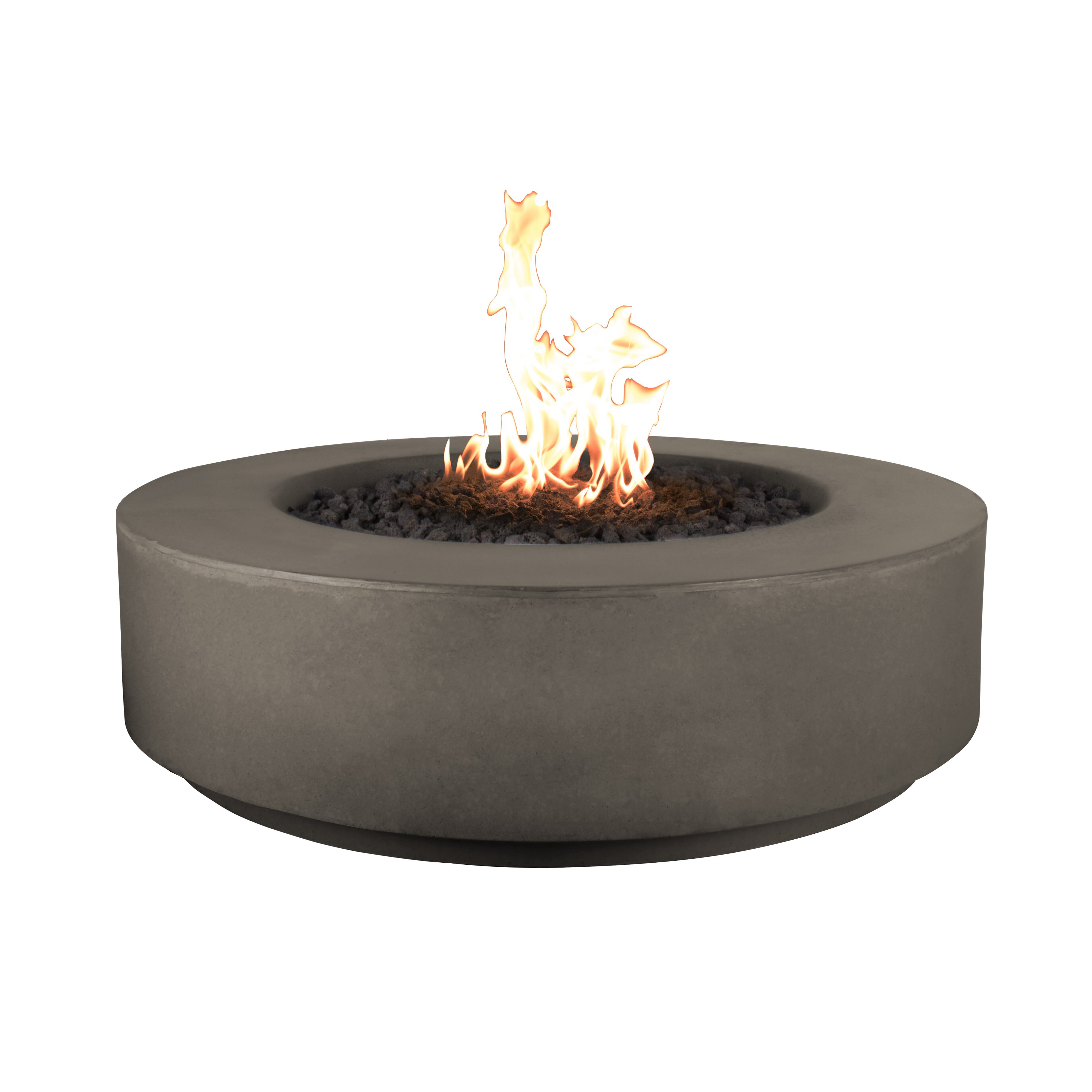 The Outdoor Plus Florence Concrete Natural Gas Fire Pit ...