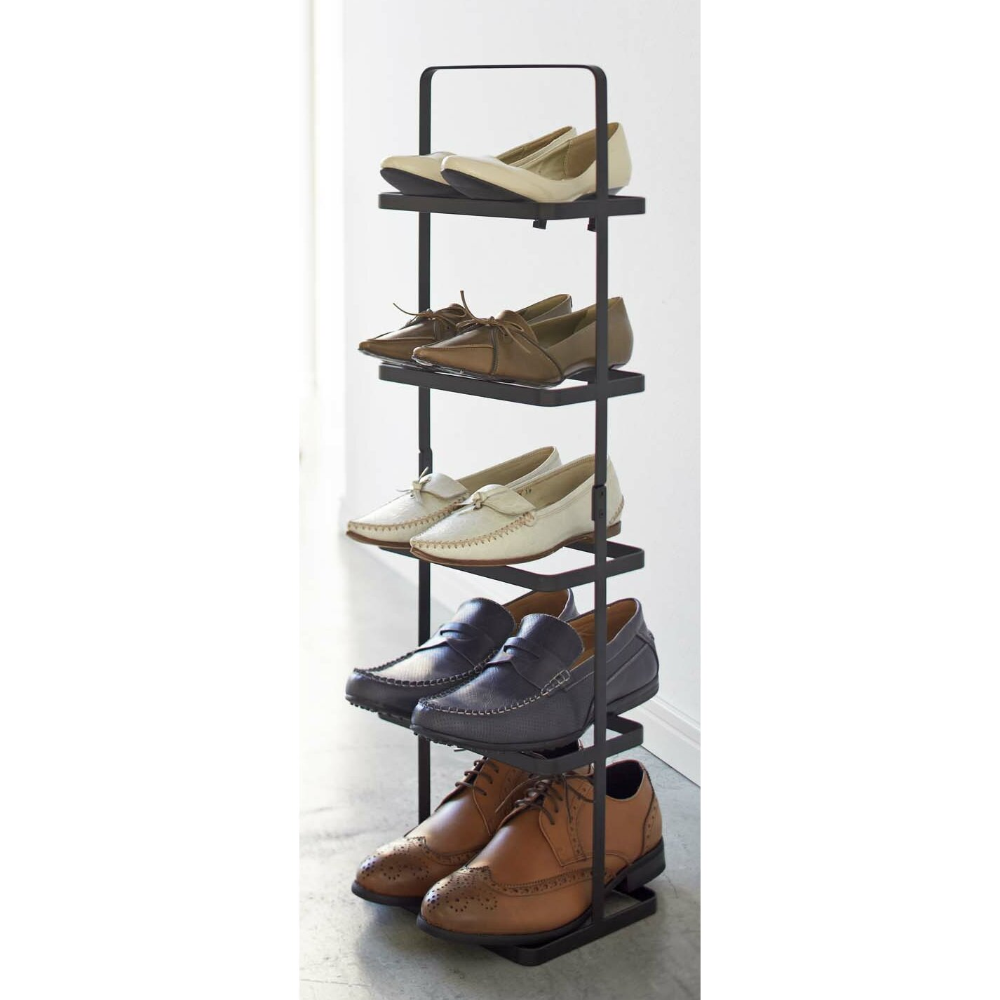 Yamazaki Usa Tower 5 Tier Shoe Rack Amp Reviews Wayfair