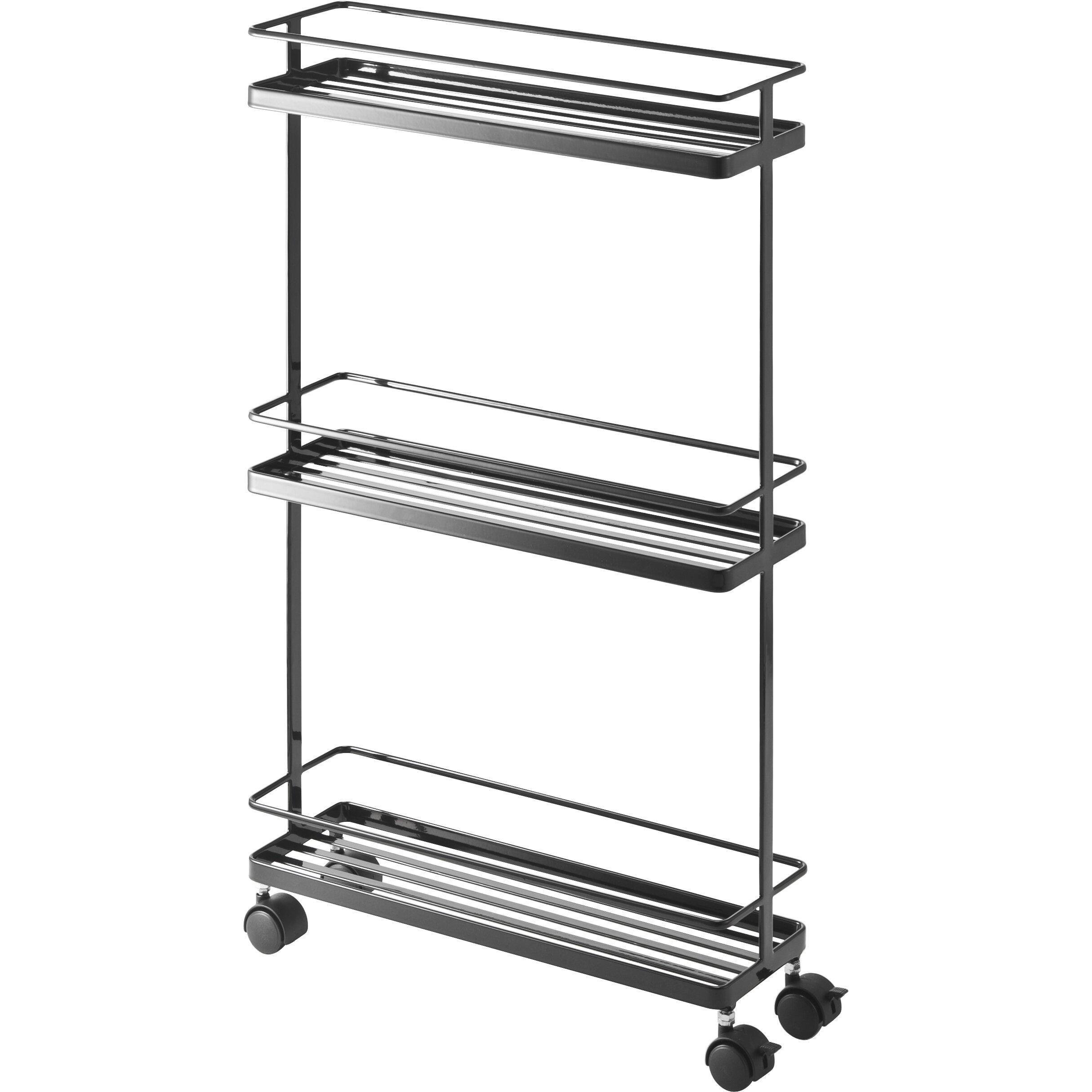 Kitchen Storage Carts: Yamazaki USA Tower Rolling Kitchen Storage Cart & Reviews