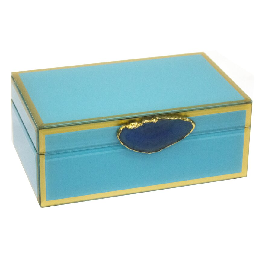 Sagebrookhome Decorative Jewelry Box With Agate Wayfair