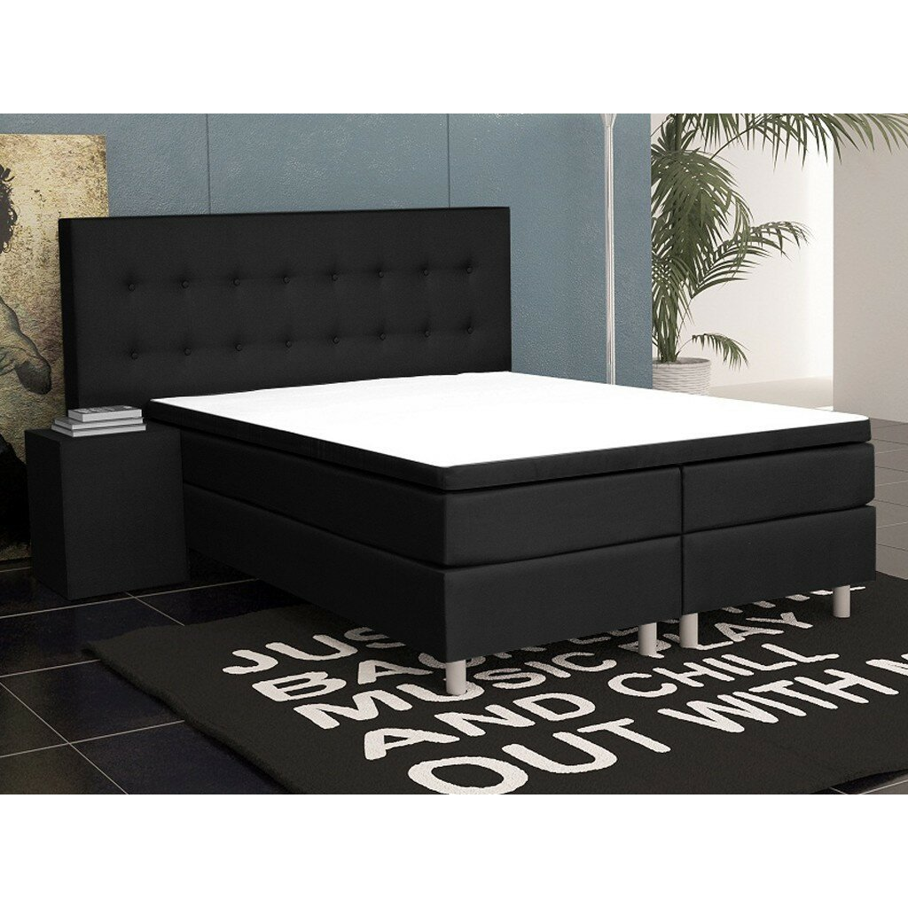 interhandelsgmbh boxspringbett k ln mit topper. Black Bedroom Furniture Sets. Home Design Ideas
