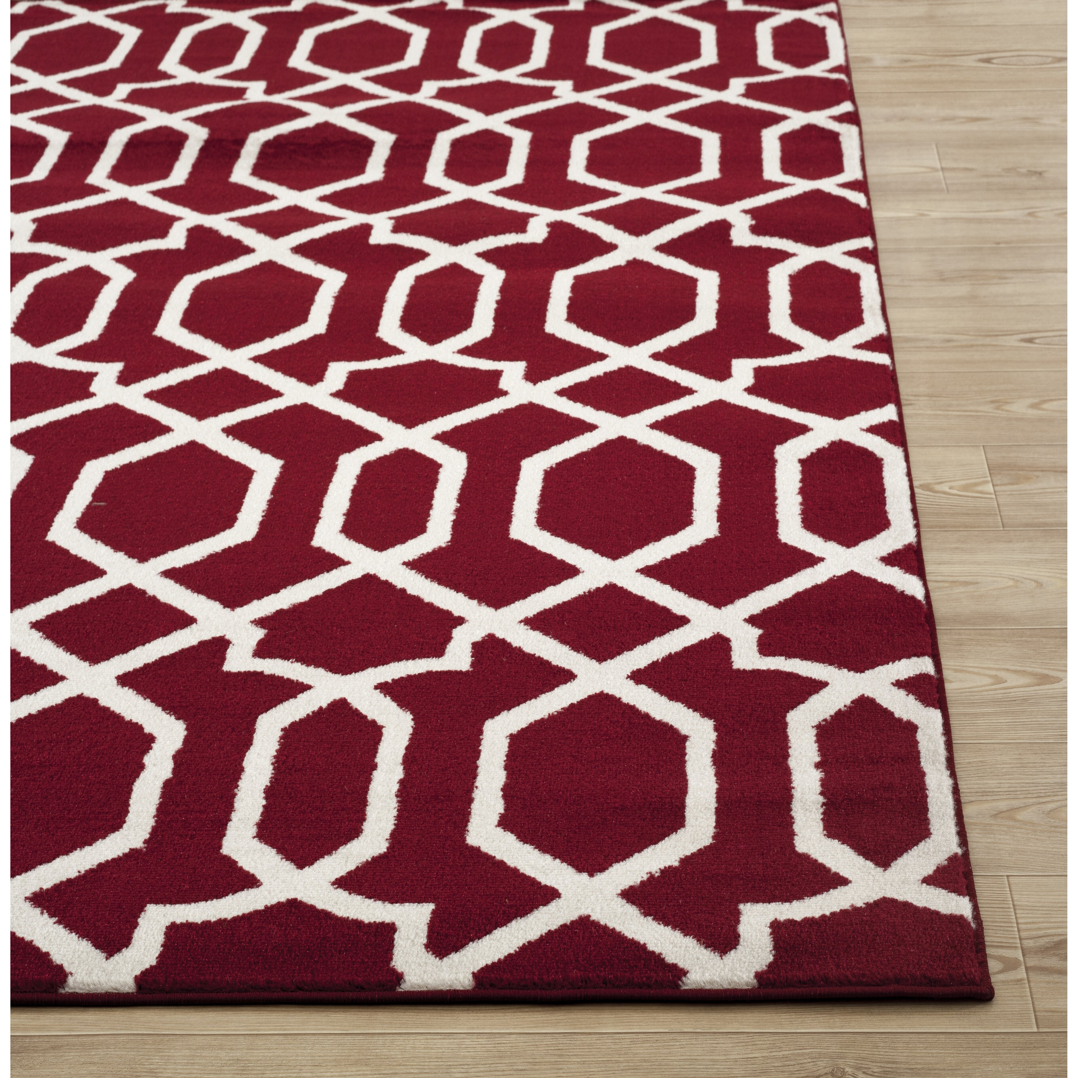 World Rug Gallery Toscana Red Indoor Area Rug Amp Reviews