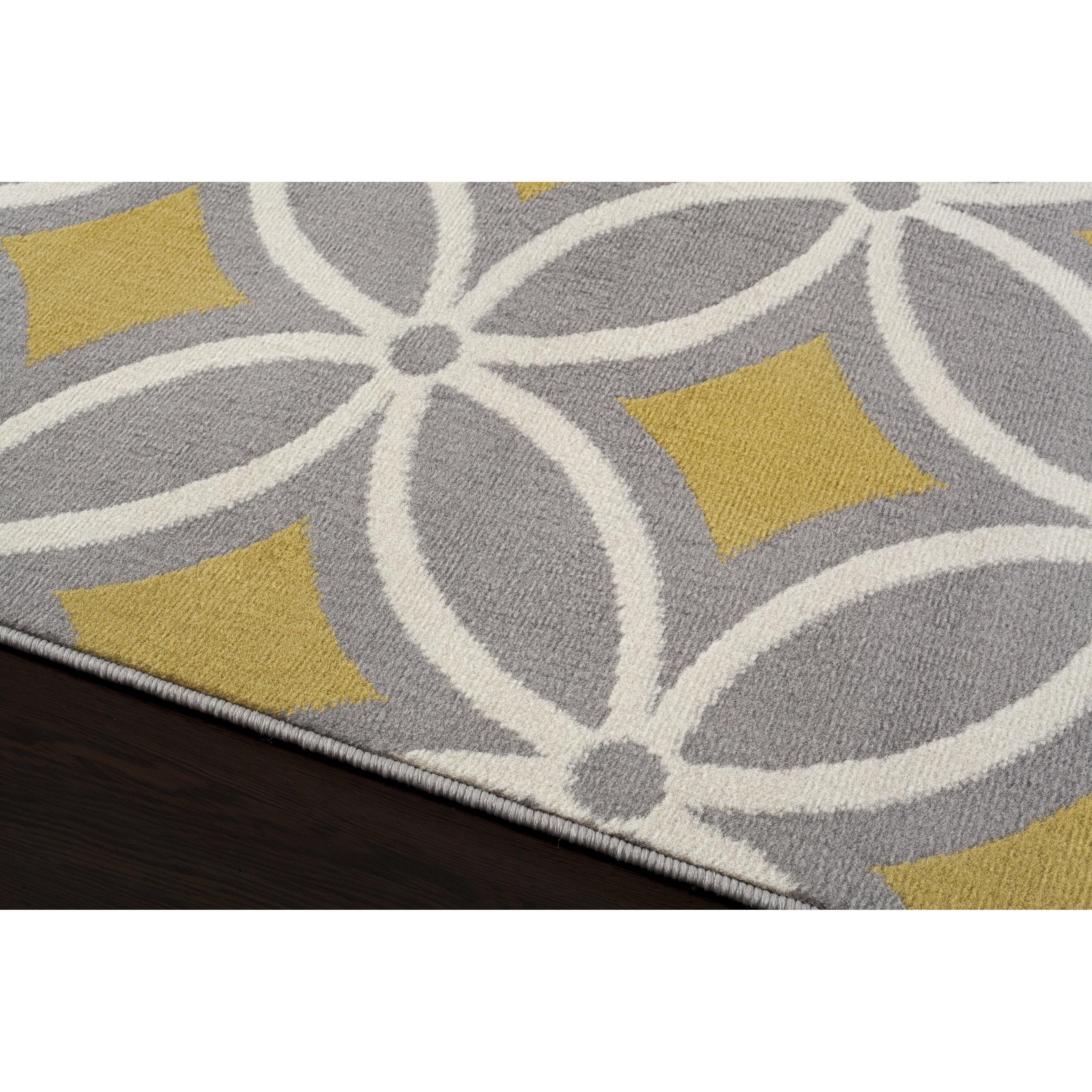 world rug gallery newport gray yellow area rug reviews wayfair. Black Bedroom Furniture Sets. Home Design Ideas
