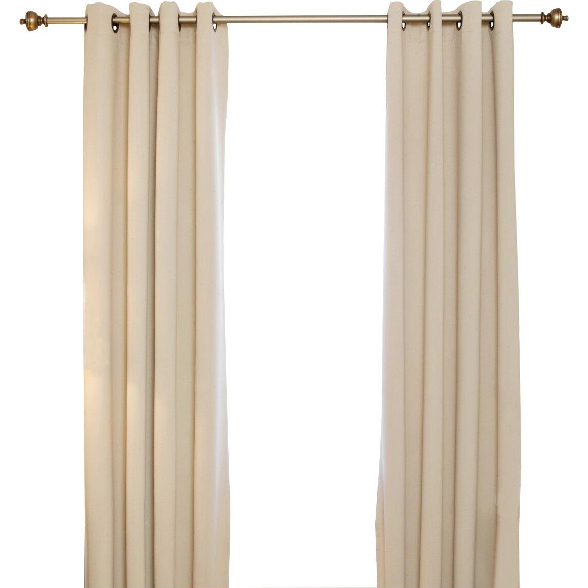 Blackout Curtain Blackout Antique Brass Grommet Top