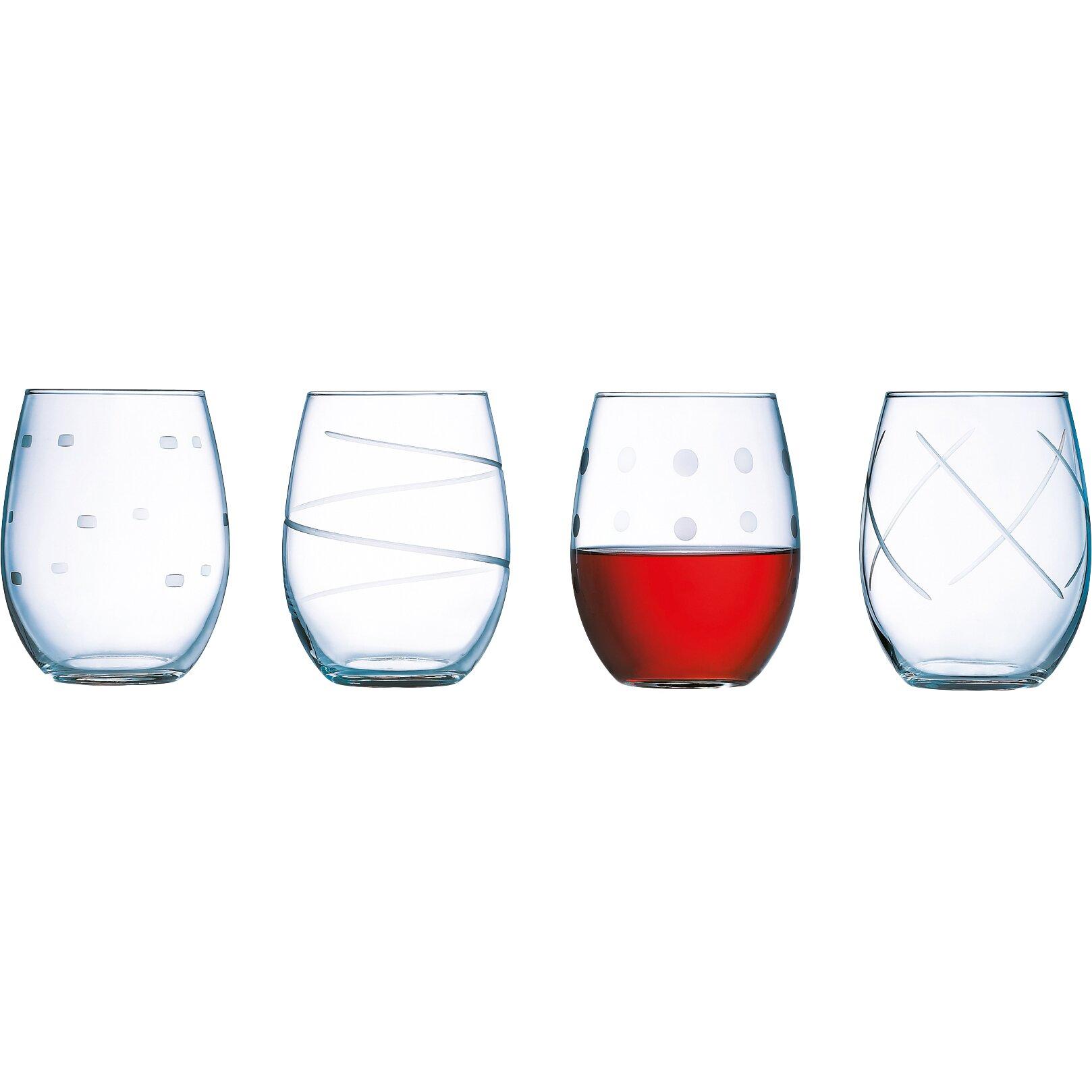 luminarc soho 21 oz stemless wine glass reviews wayfair. Black Bedroom Furniture Sets. Home Design Ideas