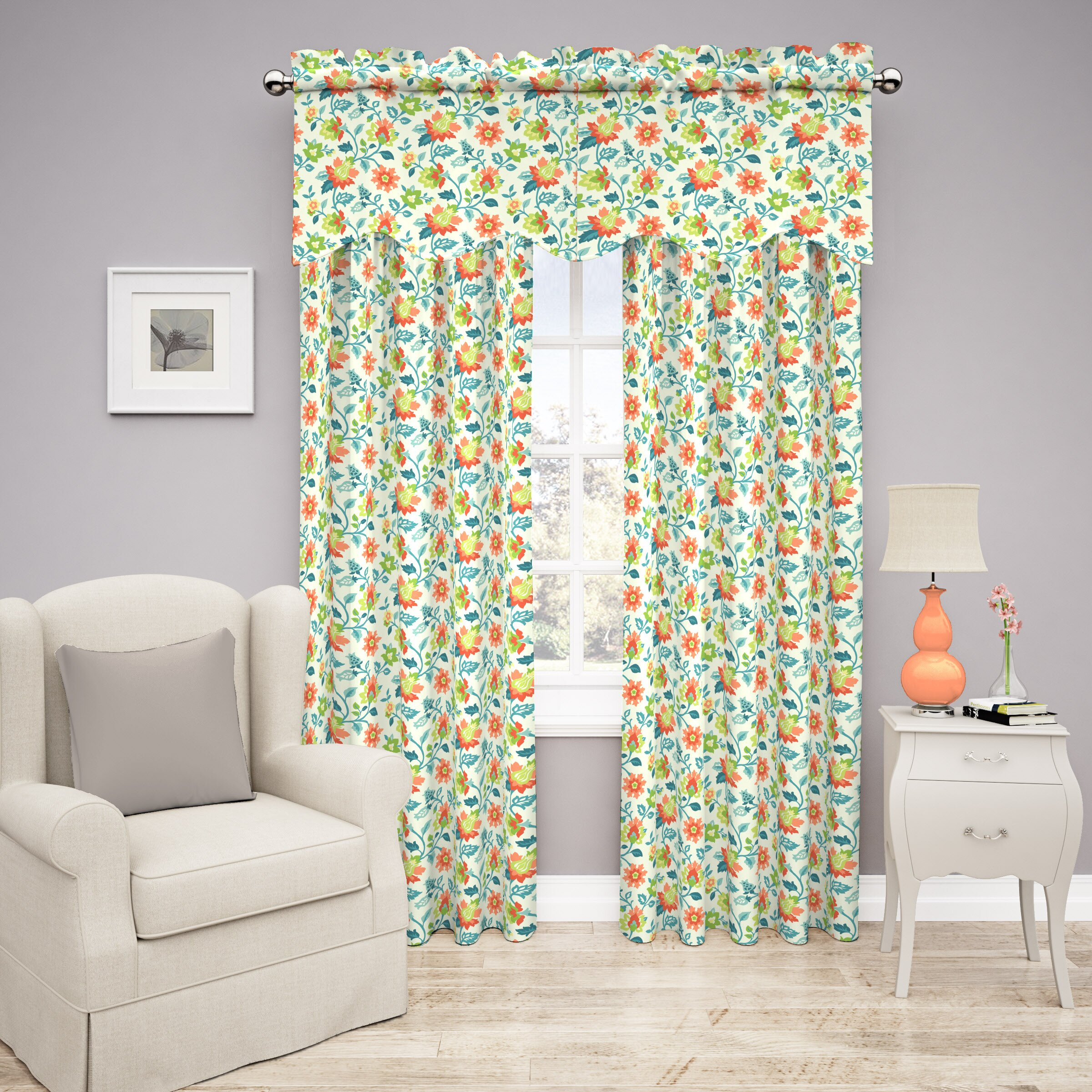 Traditions By Waverly Spring Floral Curtain Valance & Reviews