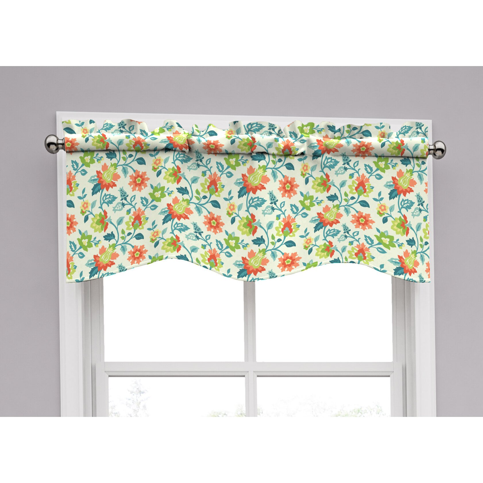 Window Treatments For Dining Rooms Traditions By Waverly Spring Floral Curtain Valance