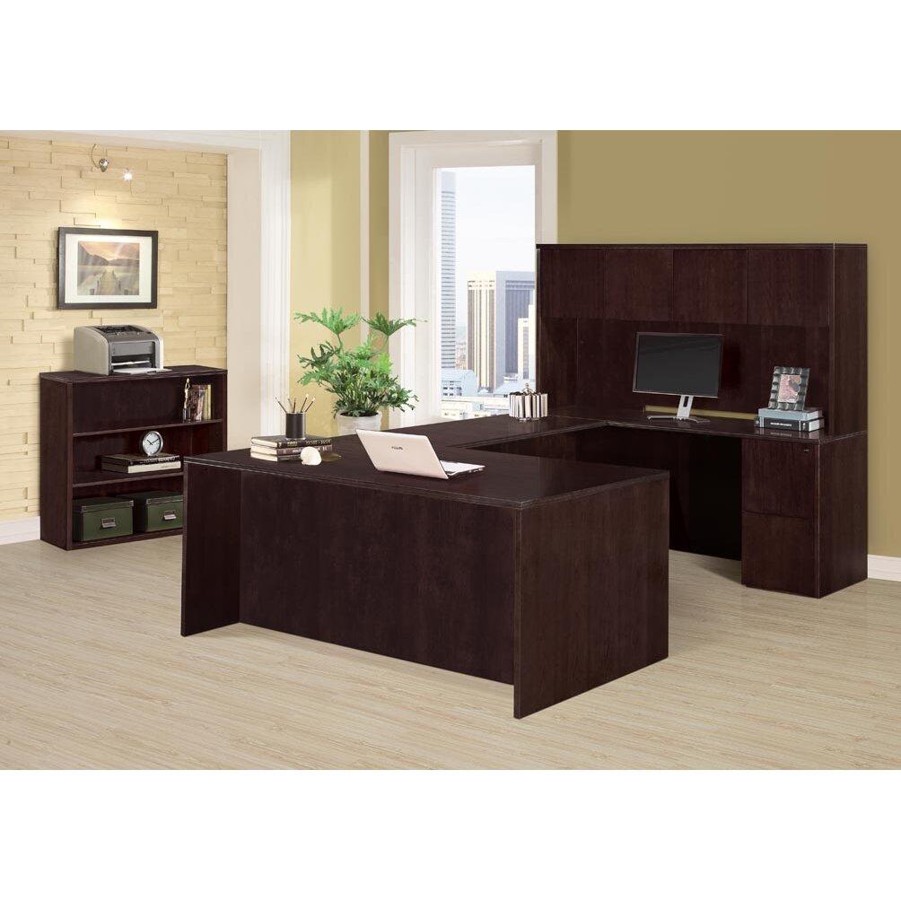 Flexsteel Contract Saratoga Executive Desk With Hutch Reviews Wayfair