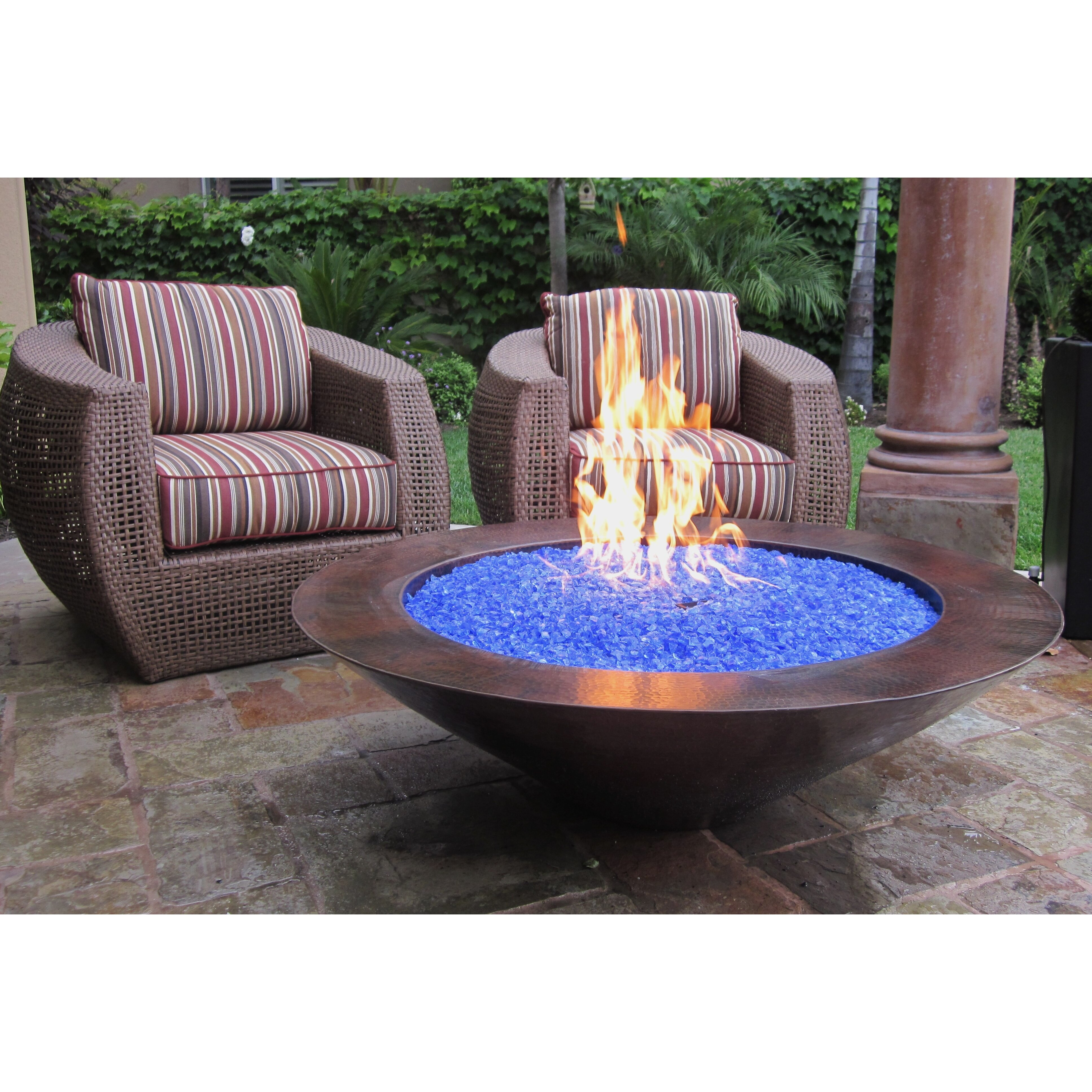 Grand effects essex gas fire pit wayfair for Foyer exterieur au gaz
