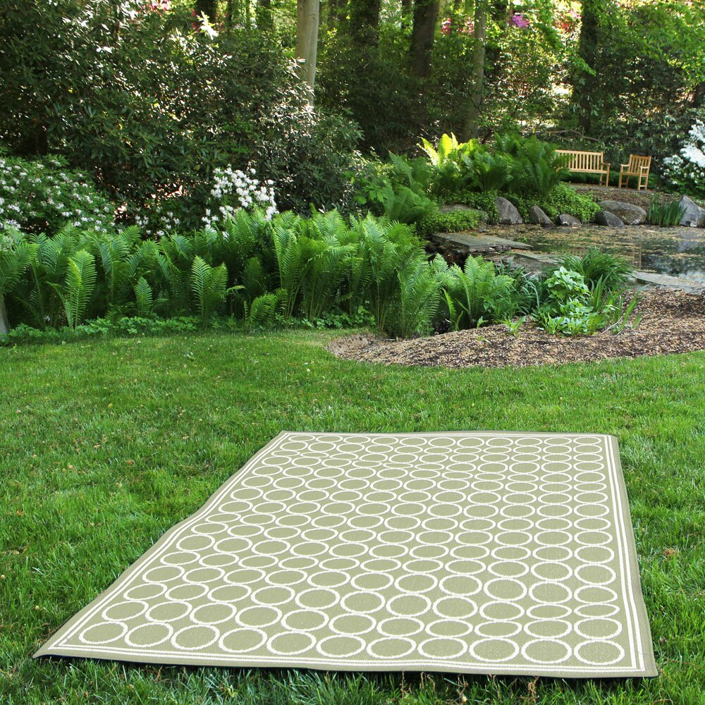 budgeindustries shelbourne sage green indoor outdoor area rug wayfair. Black Bedroom Furniture Sets. Home Design Ideas
