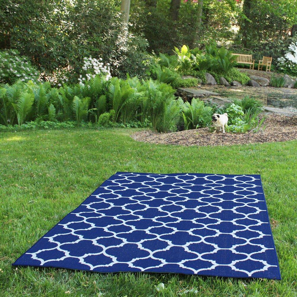 Budgeindustries shelbourne royal blue indoor outdoor area for Landscape indoor area rug