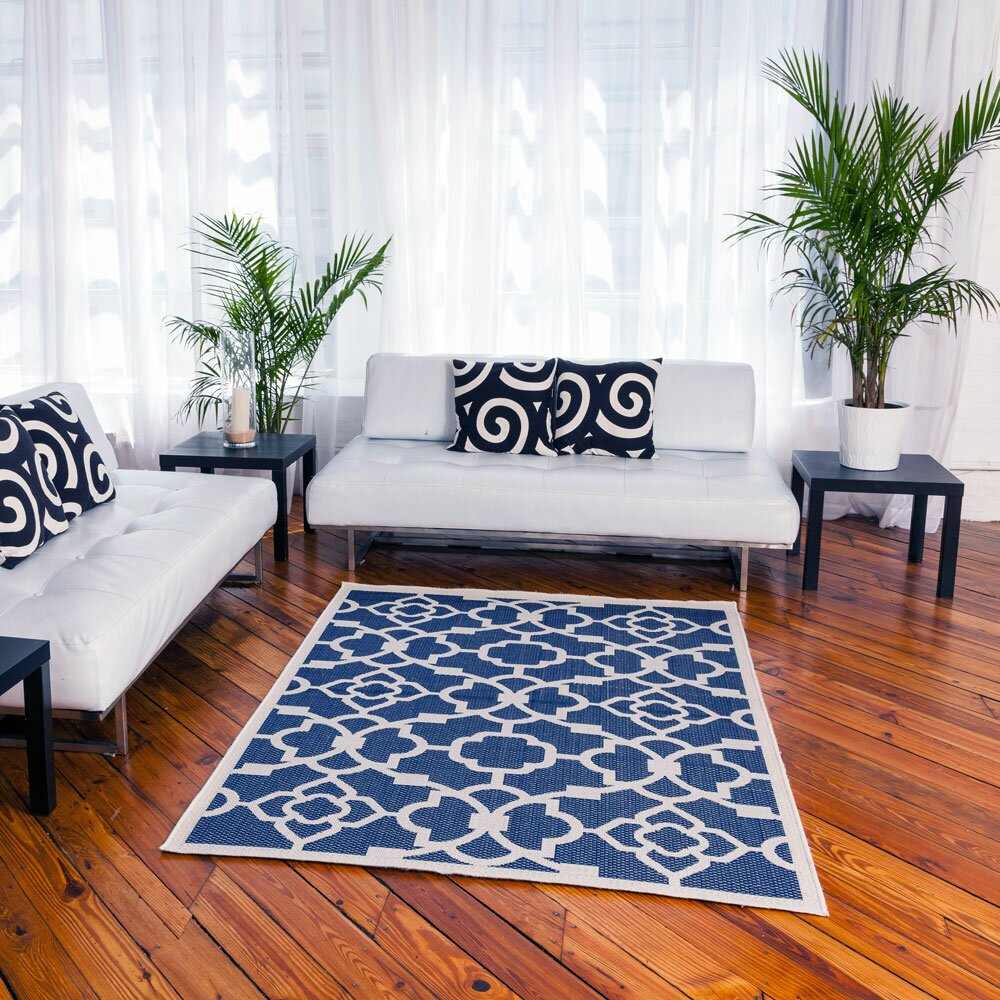 budgeindustries monaco royal blue indoor outdoor area rug. Black Bedroom Furniture Sets. Home Design Ideas