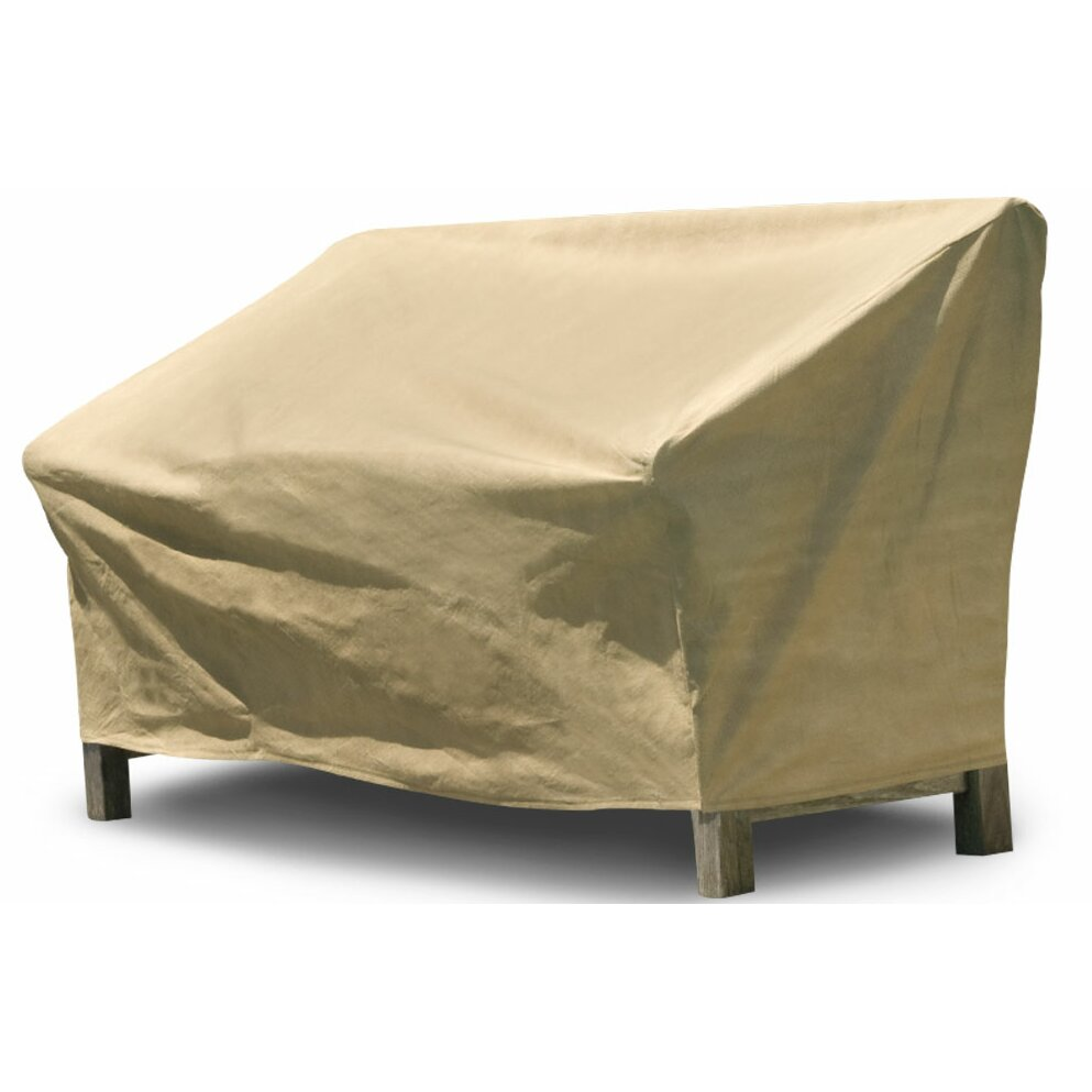 Budgeindustries all seasons outdoor loveseat cover for Wayfair garden furniture covers