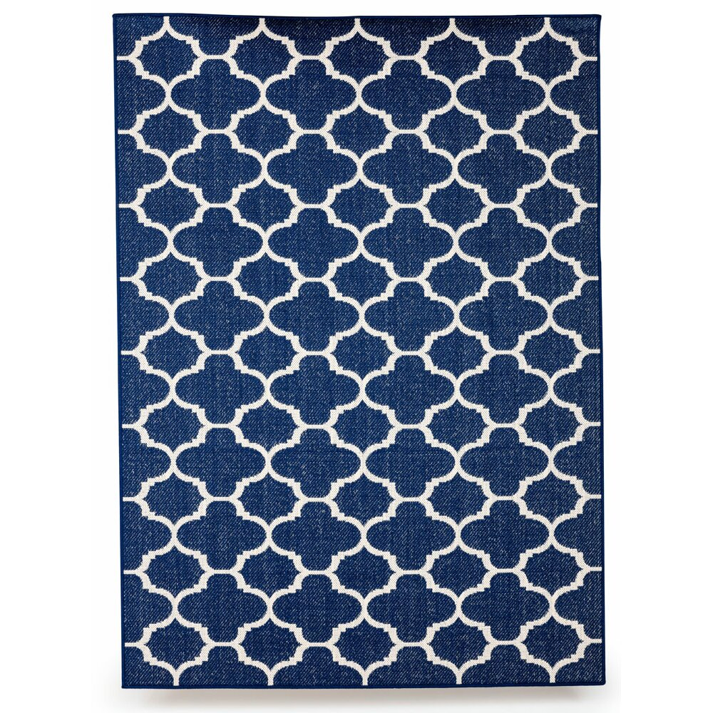 Budgeindustries winchester royal blue indoor outdoor area for Blue indoor outdoor rug