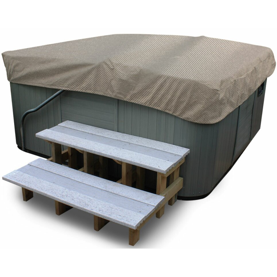 Budgeindustries english garden square hot tub cover for Wayfair garden furniture covers