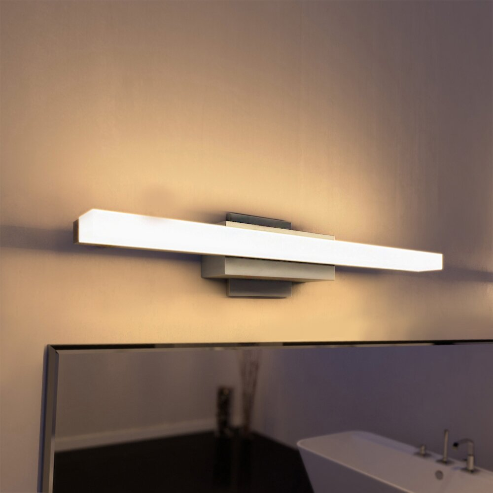 vonnlighting procyon 23 quot led low profile 1 light bath bar 19184