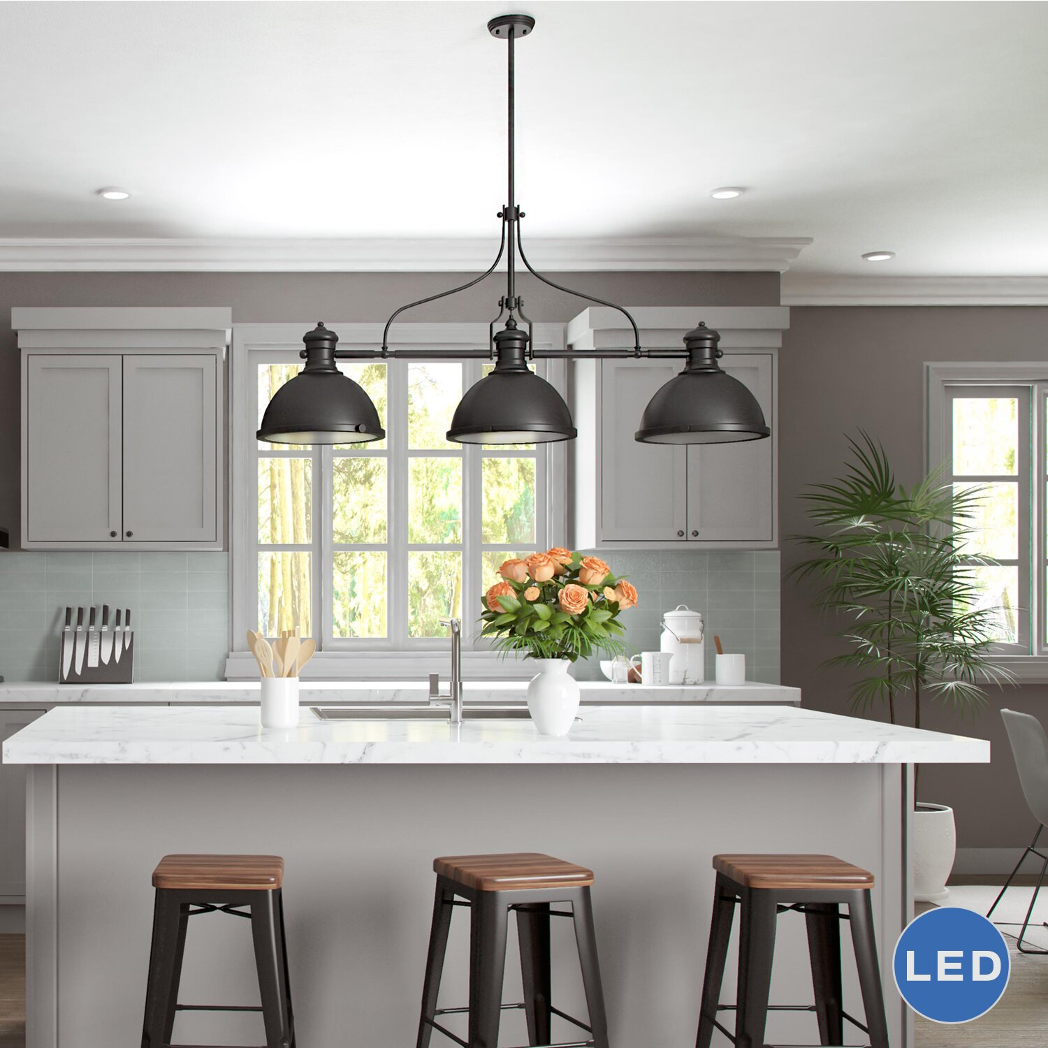 Lighting For The Kitchen: VONNLighting Dorado 3 Light Kitchen Island Pendant
