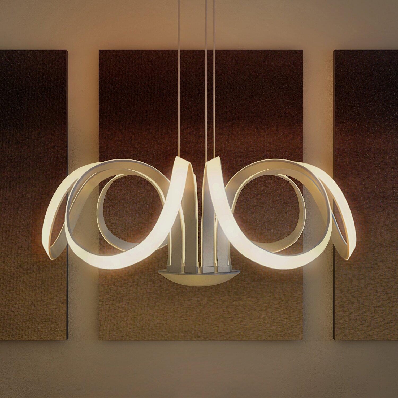 Led Swirl Six Ring Chandelier Pendant Light Contemporary: VONNLighting Capella 6 Light Geometric Pendant & Reviews