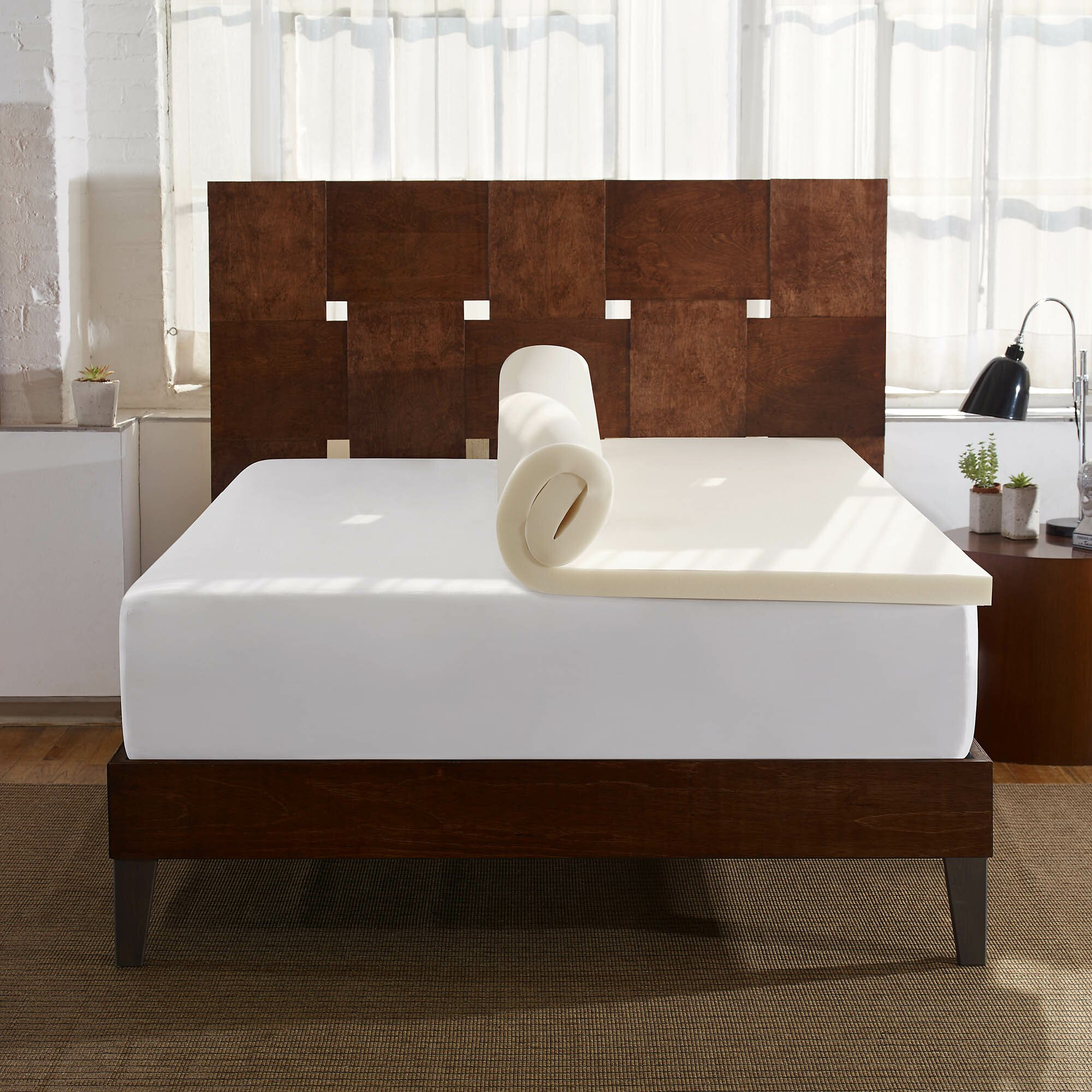 sleep innovations 2 memory foam mattress topper reviews. Black Bedroom Furniture Sets. Home Design Ideas