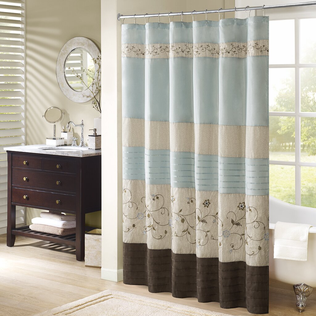 Madison Park Serene Shower Curtain Amp Reviews Wayfair