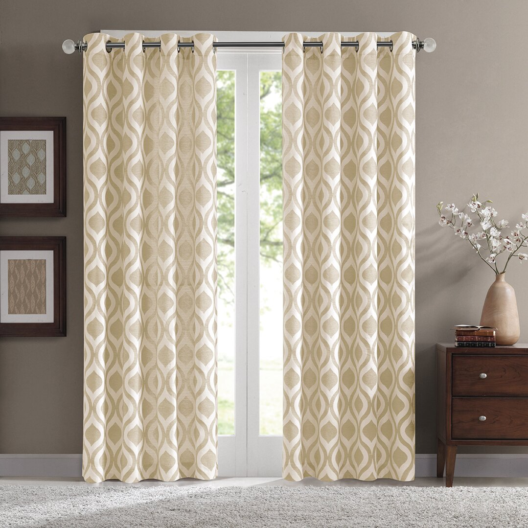 Madison Park Verona Single Curtain Panel Amp Reviews Wayfair