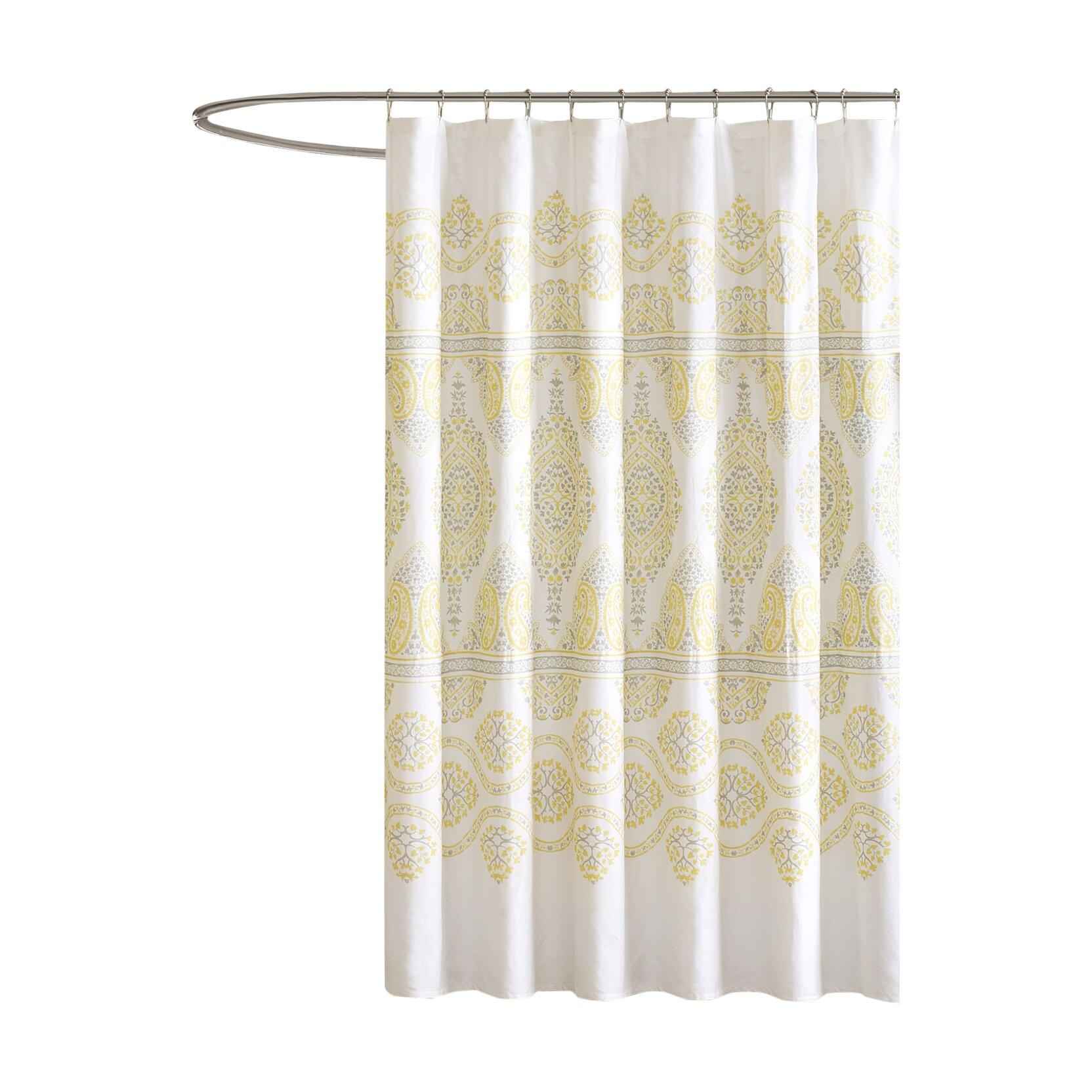 Madison Park Cotton Libreto Shower Curtain Amp Reviews Wayfair
