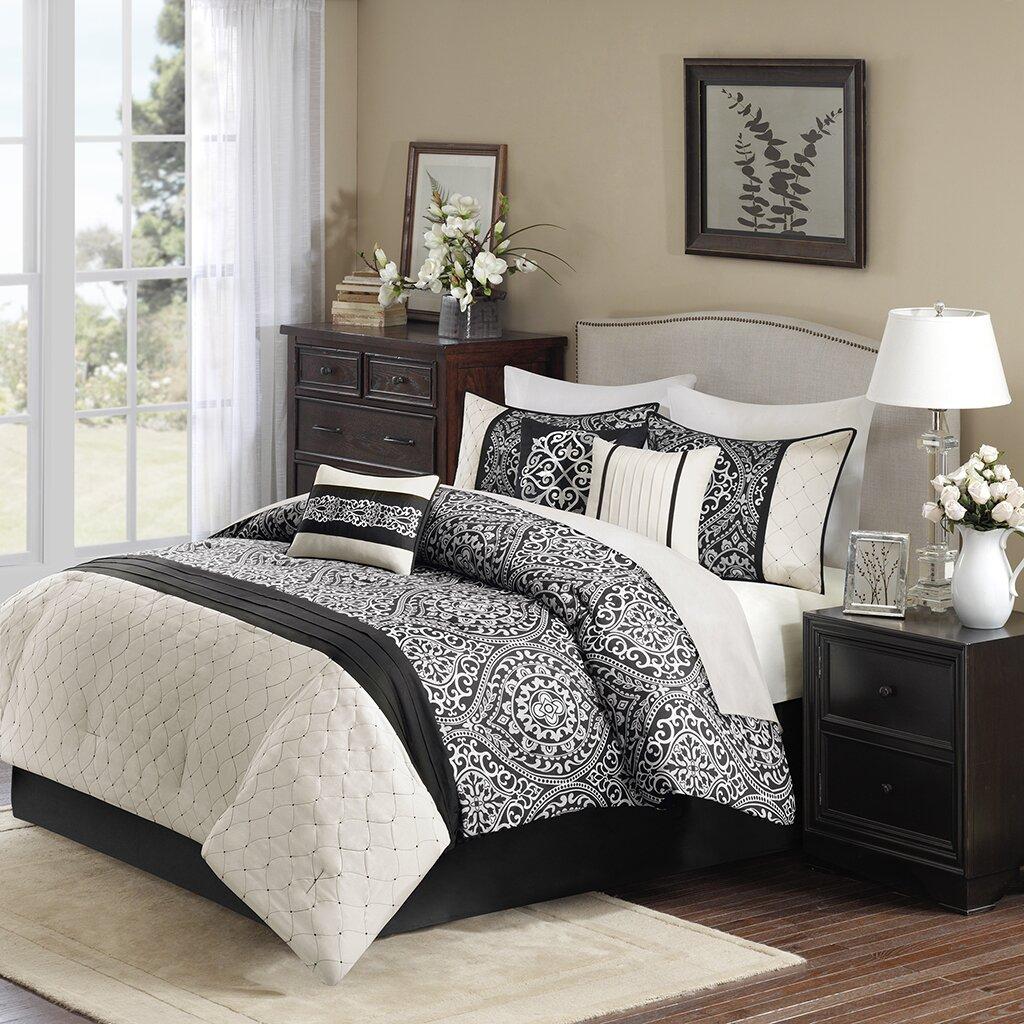 Wayfair basics wayfair basics 7 piece comforter set amp reviews - Madison Park Dover 7 Piece Comforter Set Reviews Wayfair