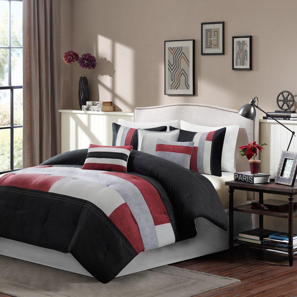 madison park canyon 7 piece reversible comforter set reviews wayfair. Black Bedroom Furniture Sets. Home Design Ideas