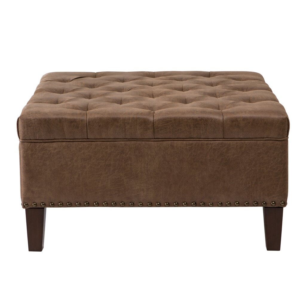 Madison park lindsey leather tufted square