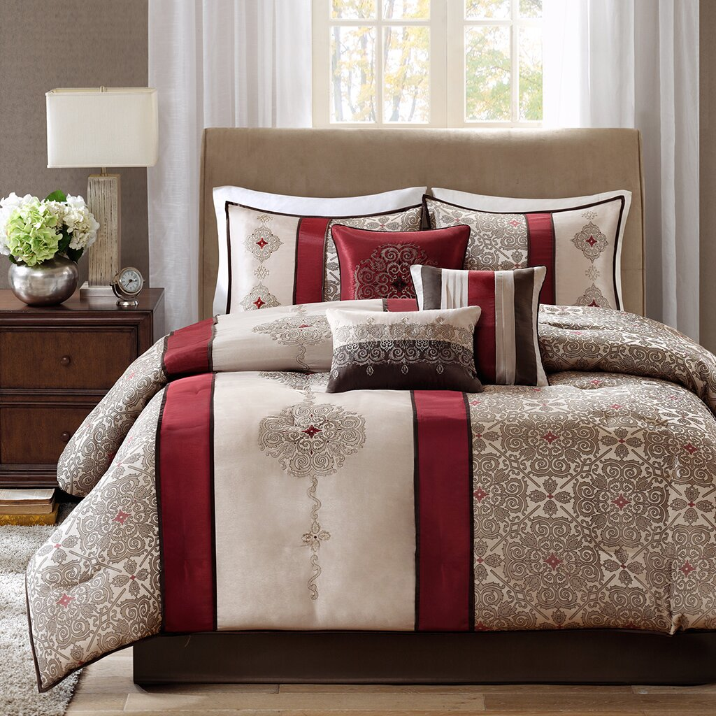Madison Park Donovan 7 Piece Comforter Set Reviews Wayfair