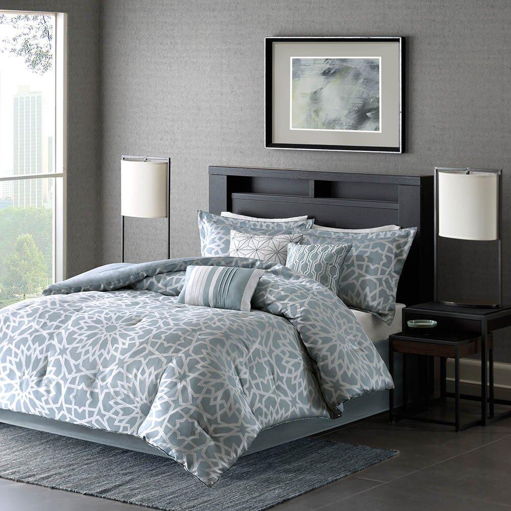 madison park carlow 7 piece comforter set reviews wayfair. Black Bedroom Furniture Sets. Home Design Ideas
