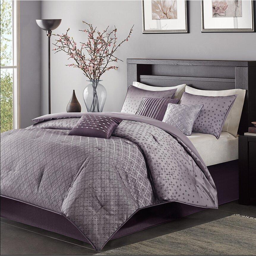 madison park biloxi 7 piece comforter set reviews wayfair. Black Bedroom Furniture Sets. Home Design Ideas