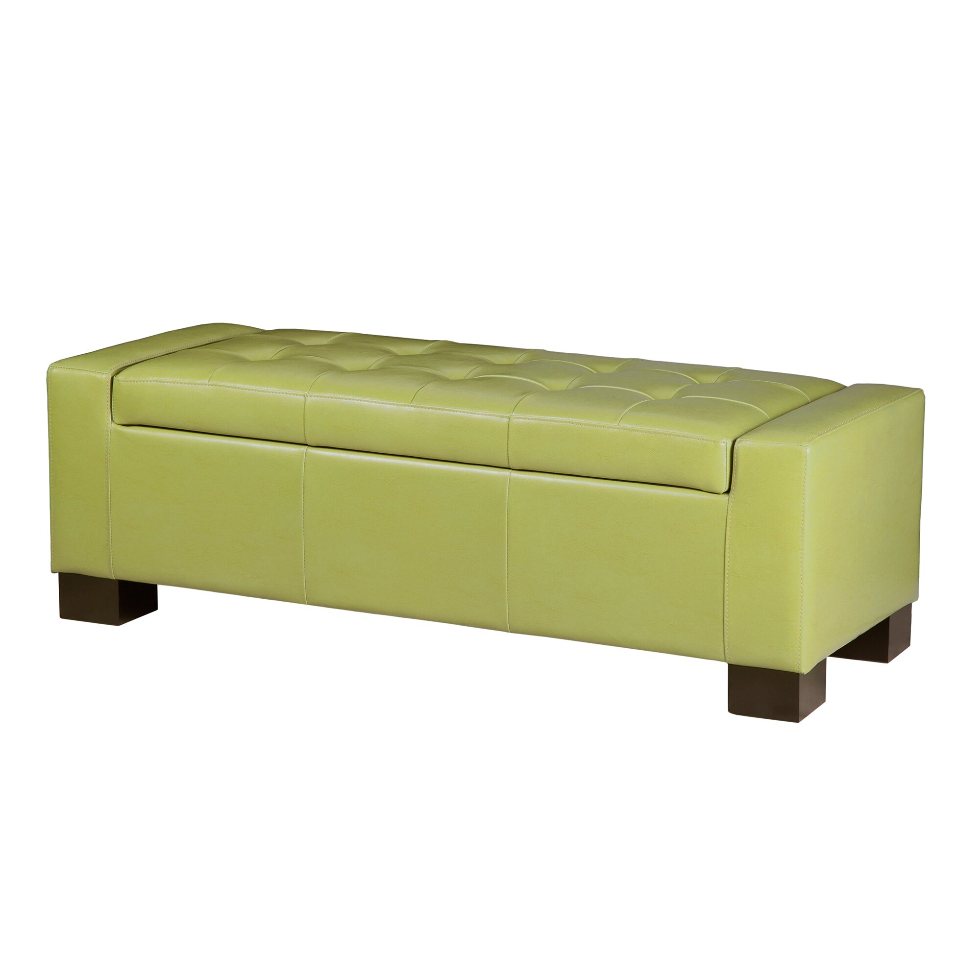 Madison Park Mirage Bench Tufted Top Storage Ottoman Reviews Wayfair
