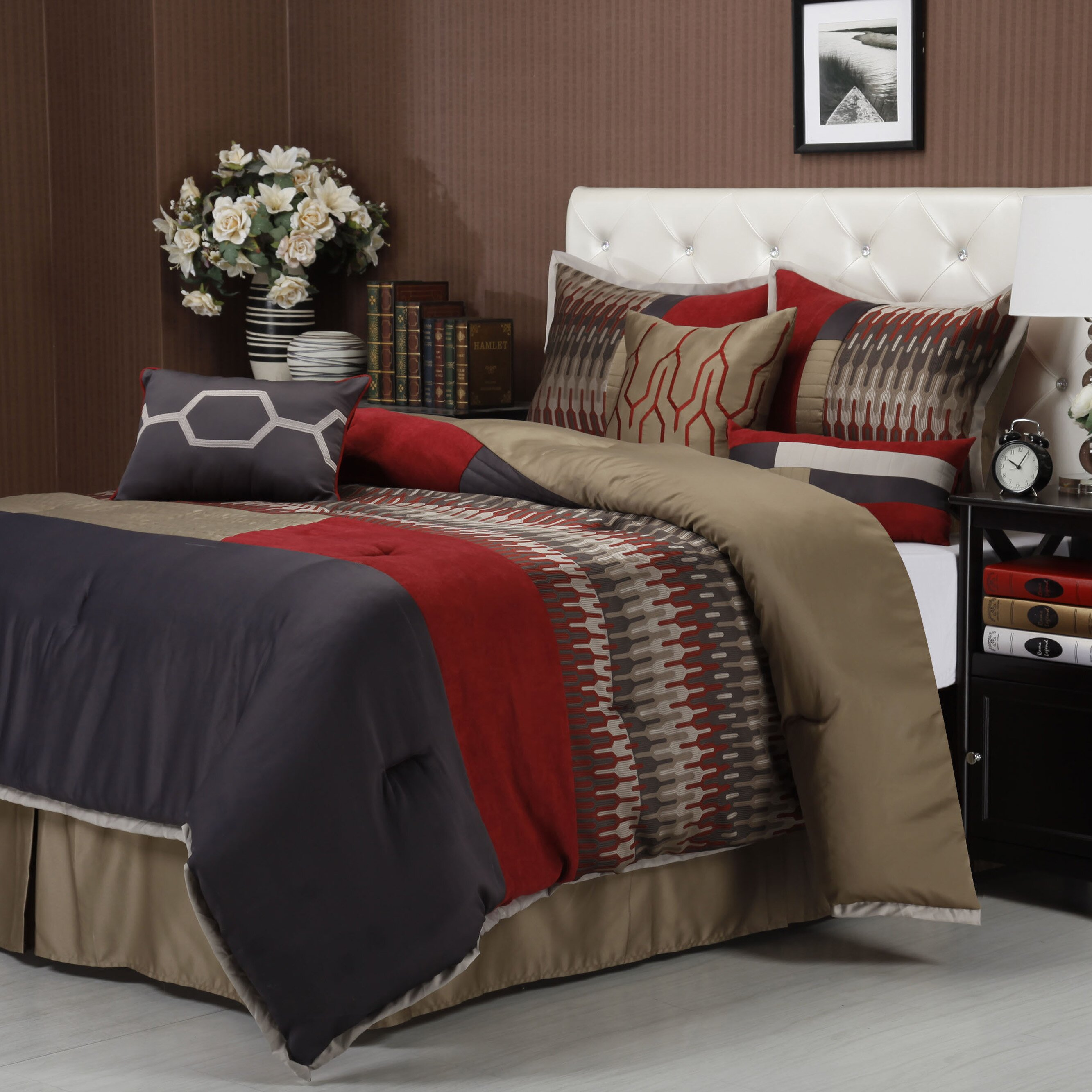 nanshing america inc towers 7 piece comforter set