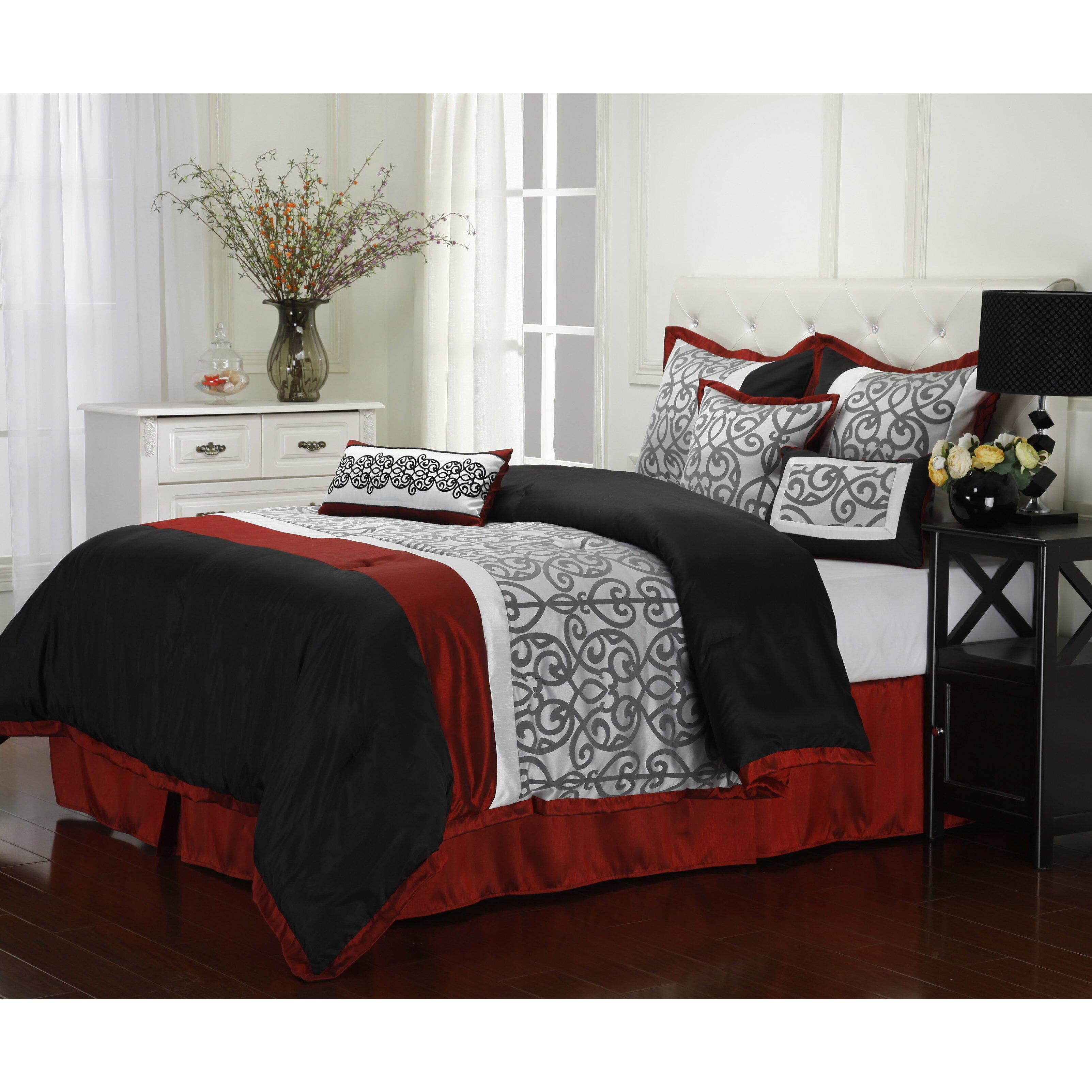america inc aubrey 7 piece reversible comforter set wayfair