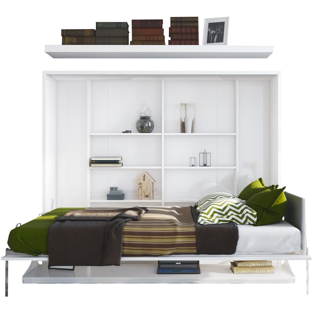 multimo full double murphy bed wayfair. Black Bedroom Furniture Sets. Home Design Ideas