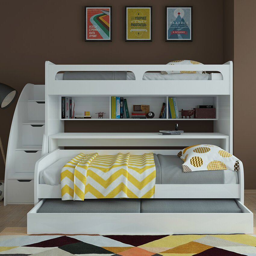 Sears Bunk Beds With Desk Small Desk Organization Ideas