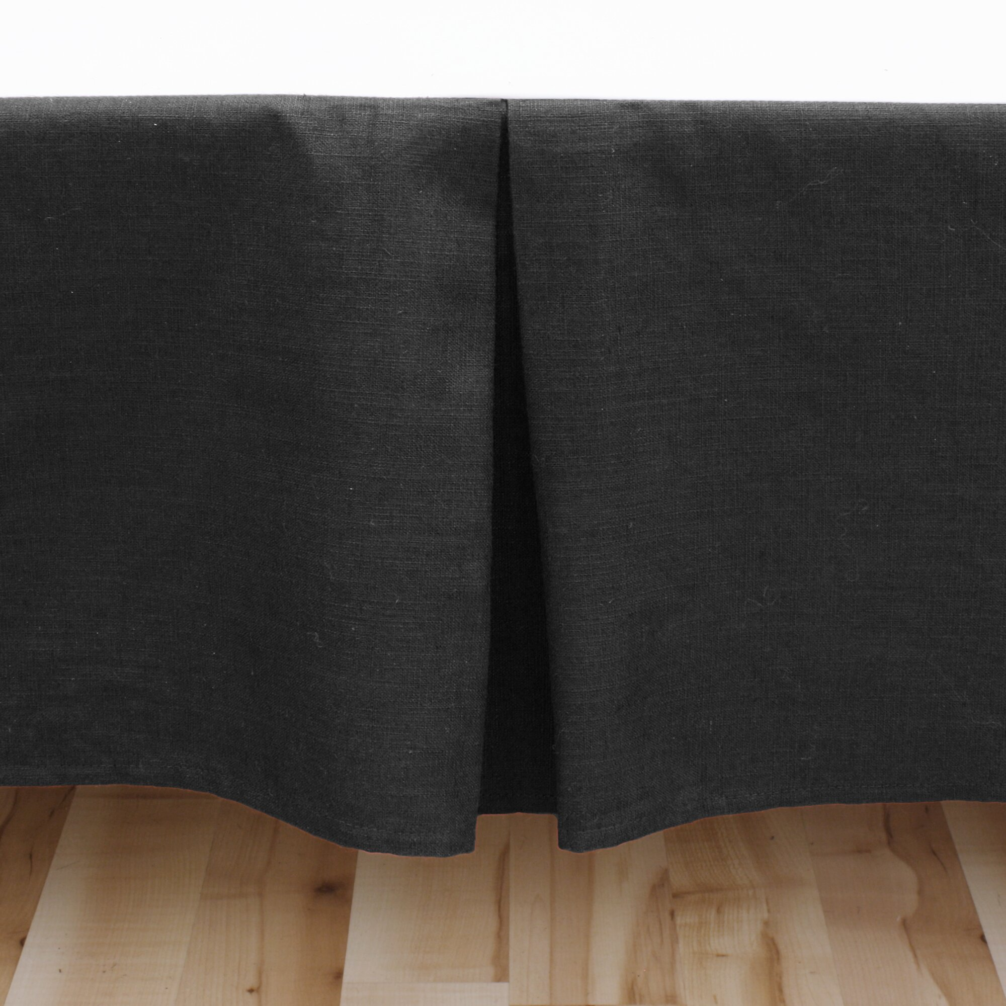 brite ideas living circa solid linen pleated bed skirt