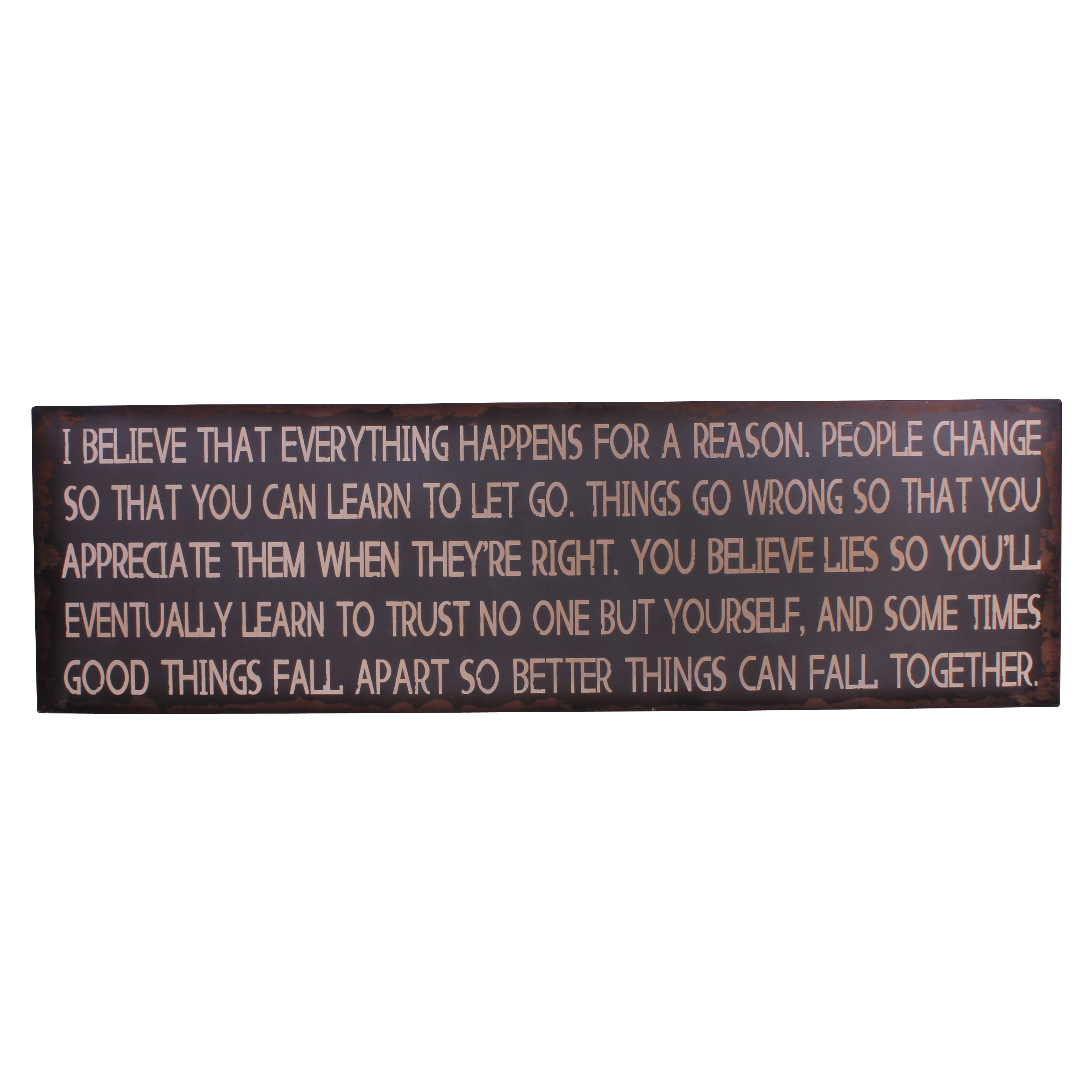 i believe everything happens for a reason essay