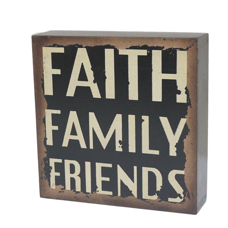 Attractiondesignhome faith wood wall d cor wayfair for Faith decor