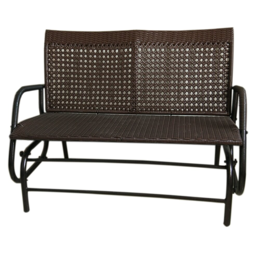 Attractiondesignhome Wicker Rocking Bench Wayfair