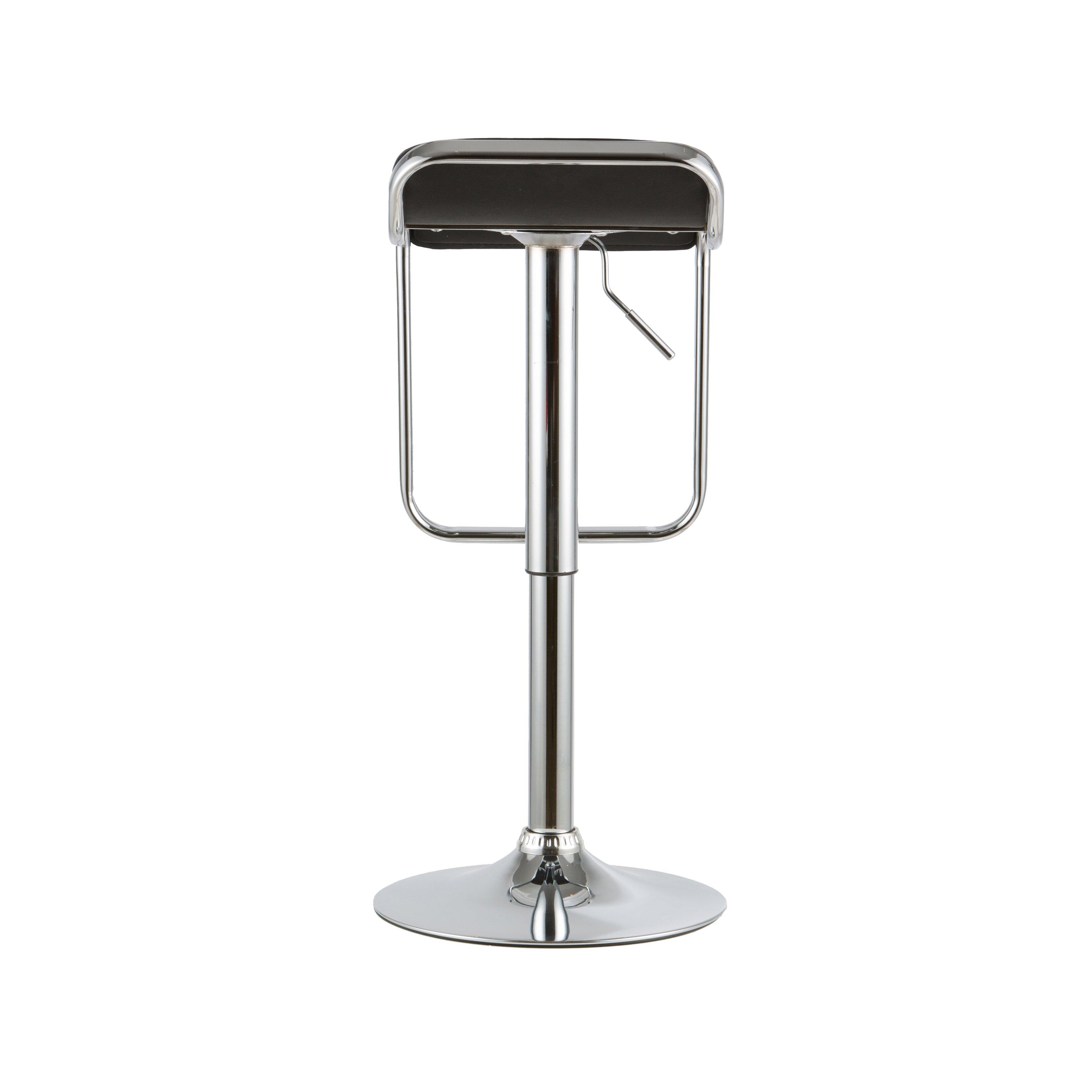 Attractiondesignhome 2 Piece Adjustable Height Swivel Bar Stool Set Wayfair