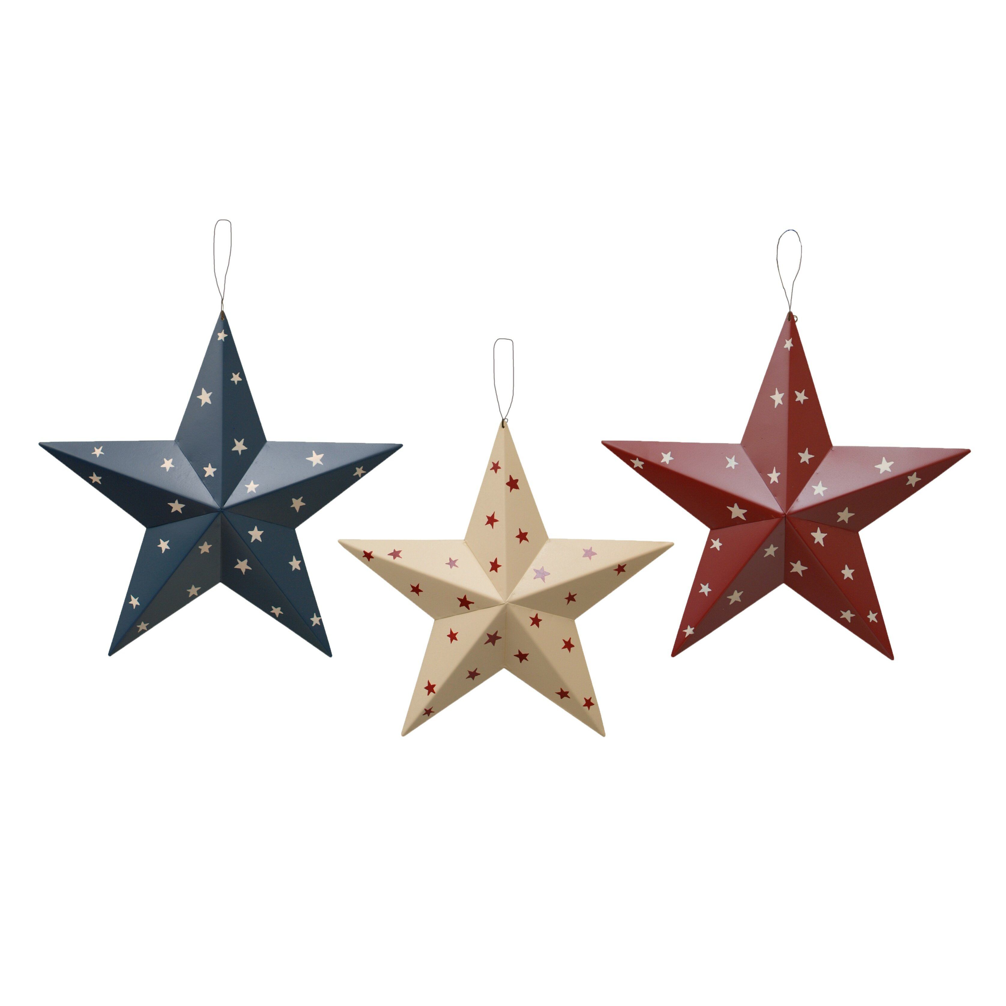Attractiondesignhome americana patriotic barn 3d stars for 3d star decoration