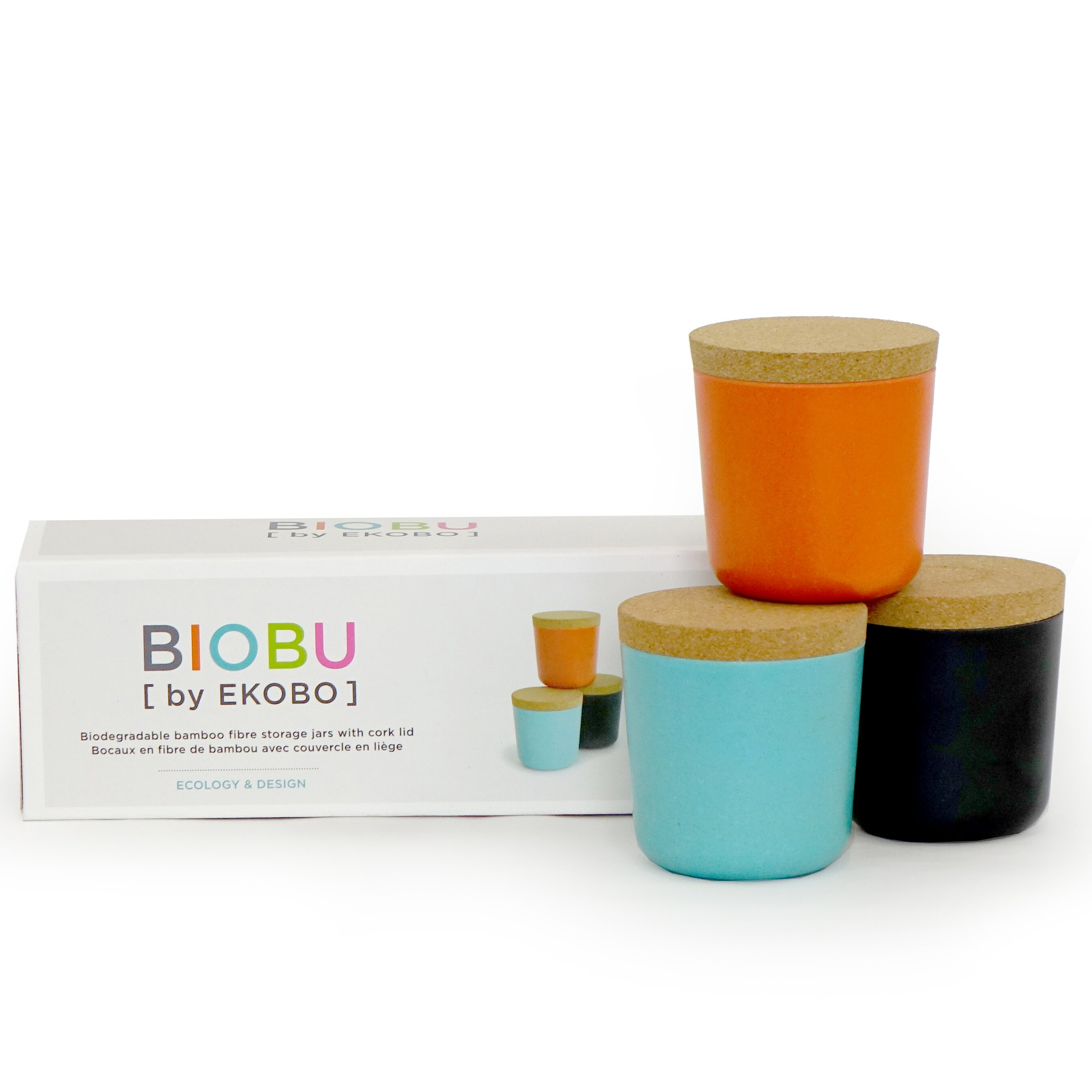 biobu by ekobo gusto 8 oz storage jar set v2 reviews wayfair. Black Bedroom Furniture Sets. Home Design Ideas